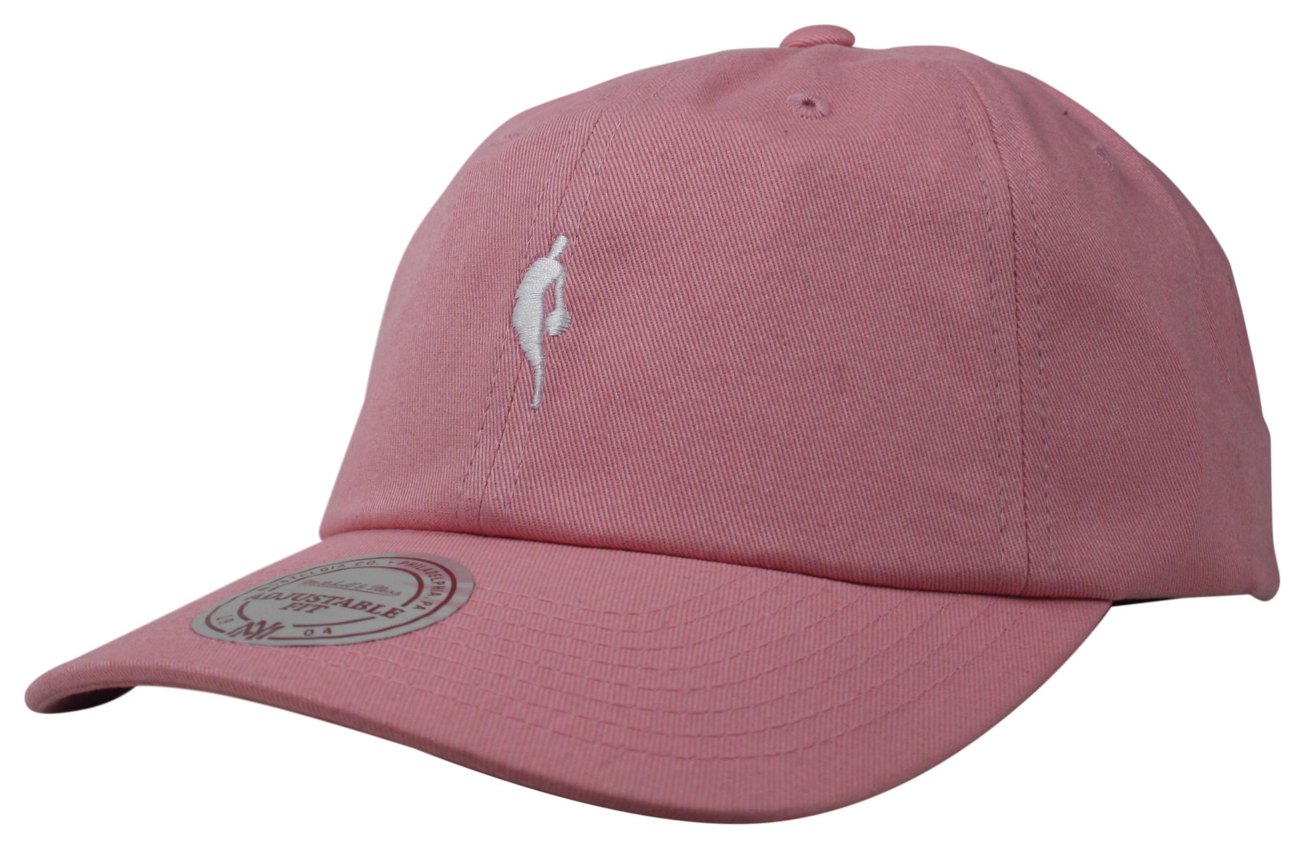 1fa90d82 Mitchell & Ness | NBA Logoman Pink Little Dribbler Dad Hat Snapback