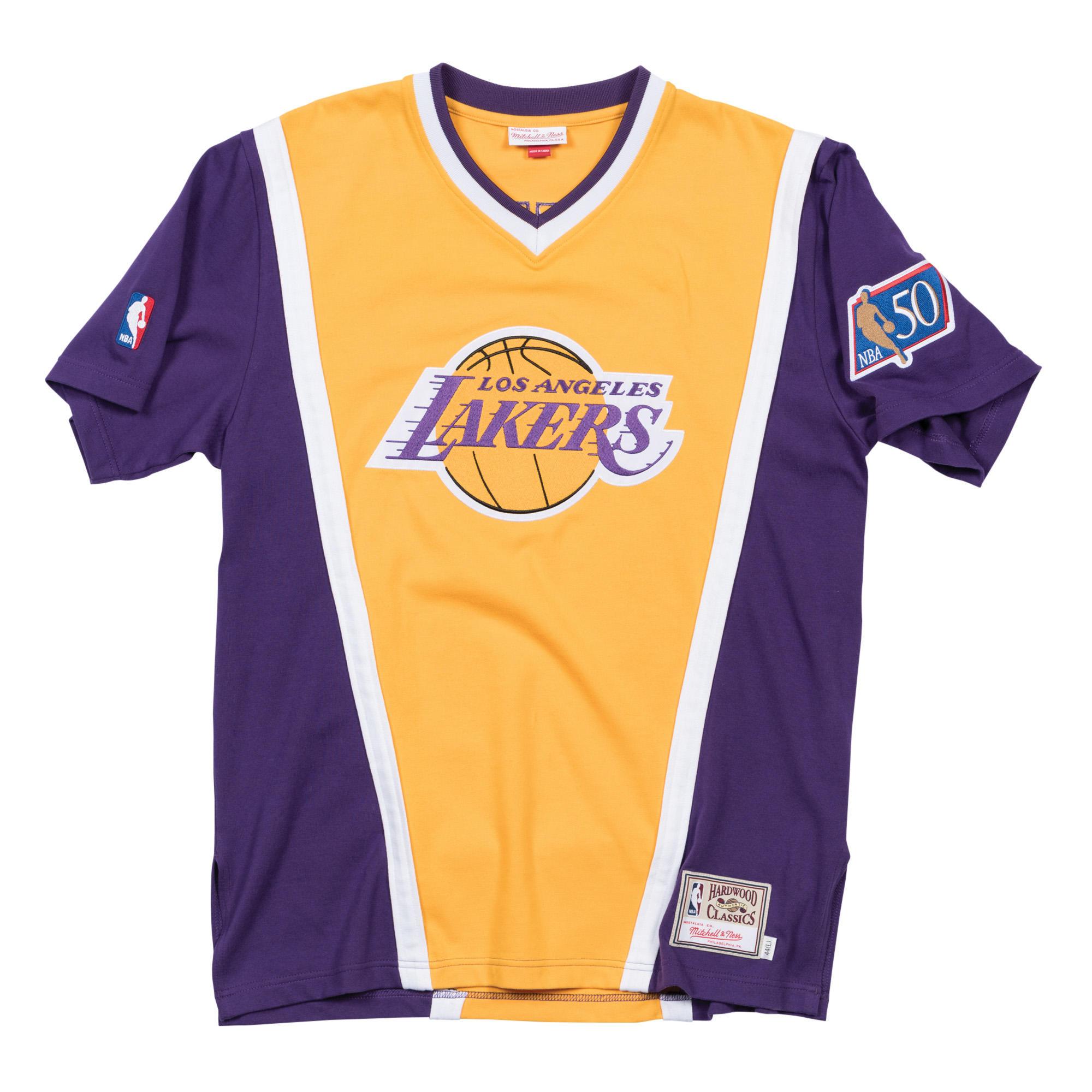 1d9ec7a56 1996-97 V-Neck Pullover Shooting Shirt LA Lakers