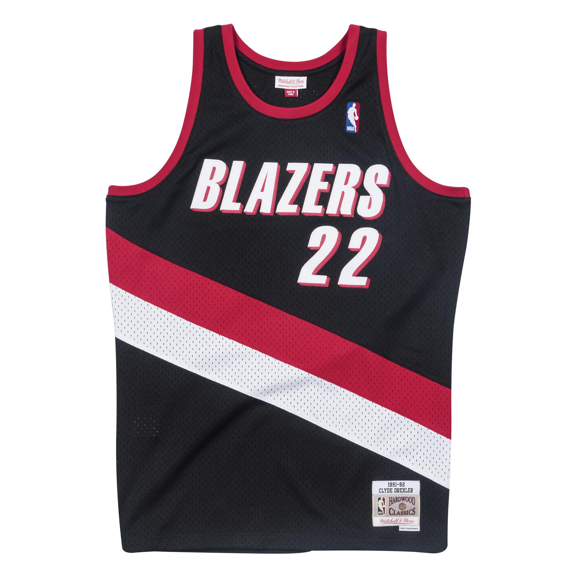 8f1b52501 Clyde Drexler 1991-92 Swingman Jersey Portland Trail Blazers