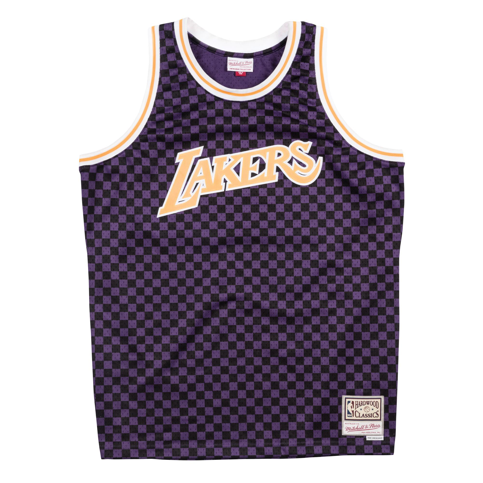 the best attitude 91b25 9ae2a Mitchell & Ness | Los Angeles Lakers Black & Purple ...