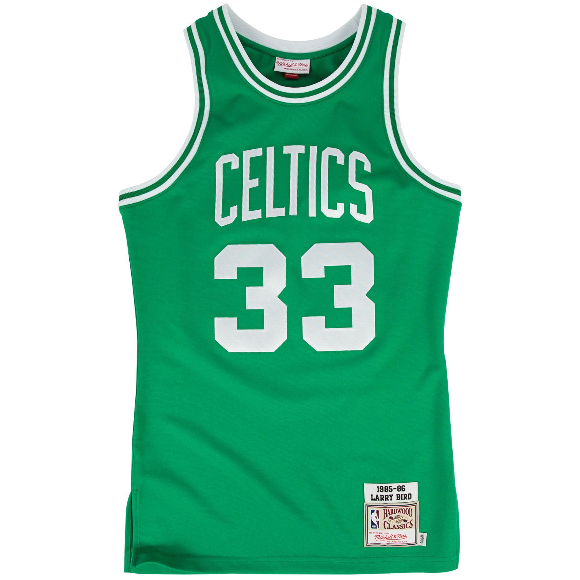 00e898daa0e Larry Bird 1985-86 Road Authentic Jersey Boston Celtics