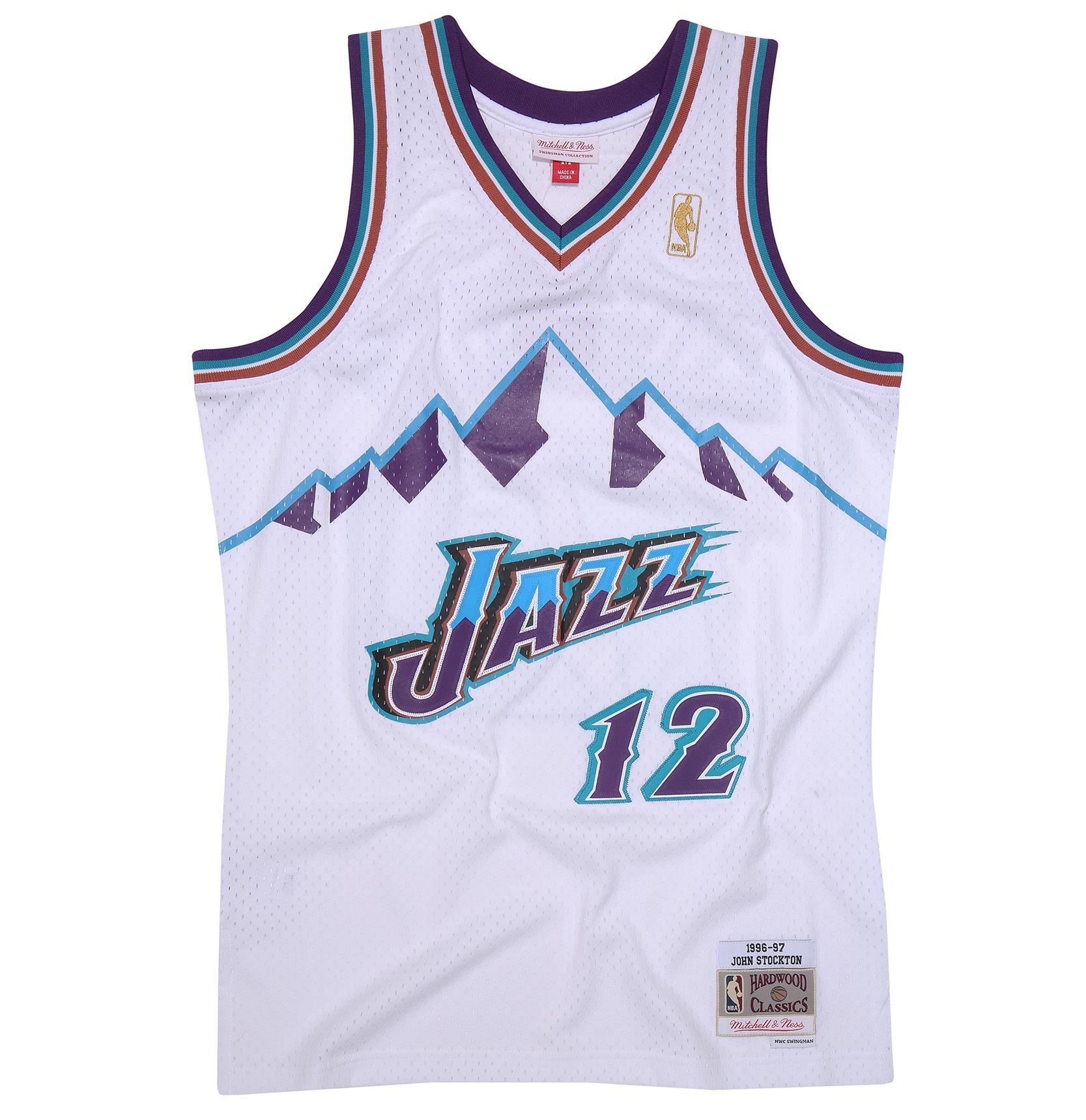 John Stockton 1996-97 Home Swingman Jersey Utah Jazz a9db590ec