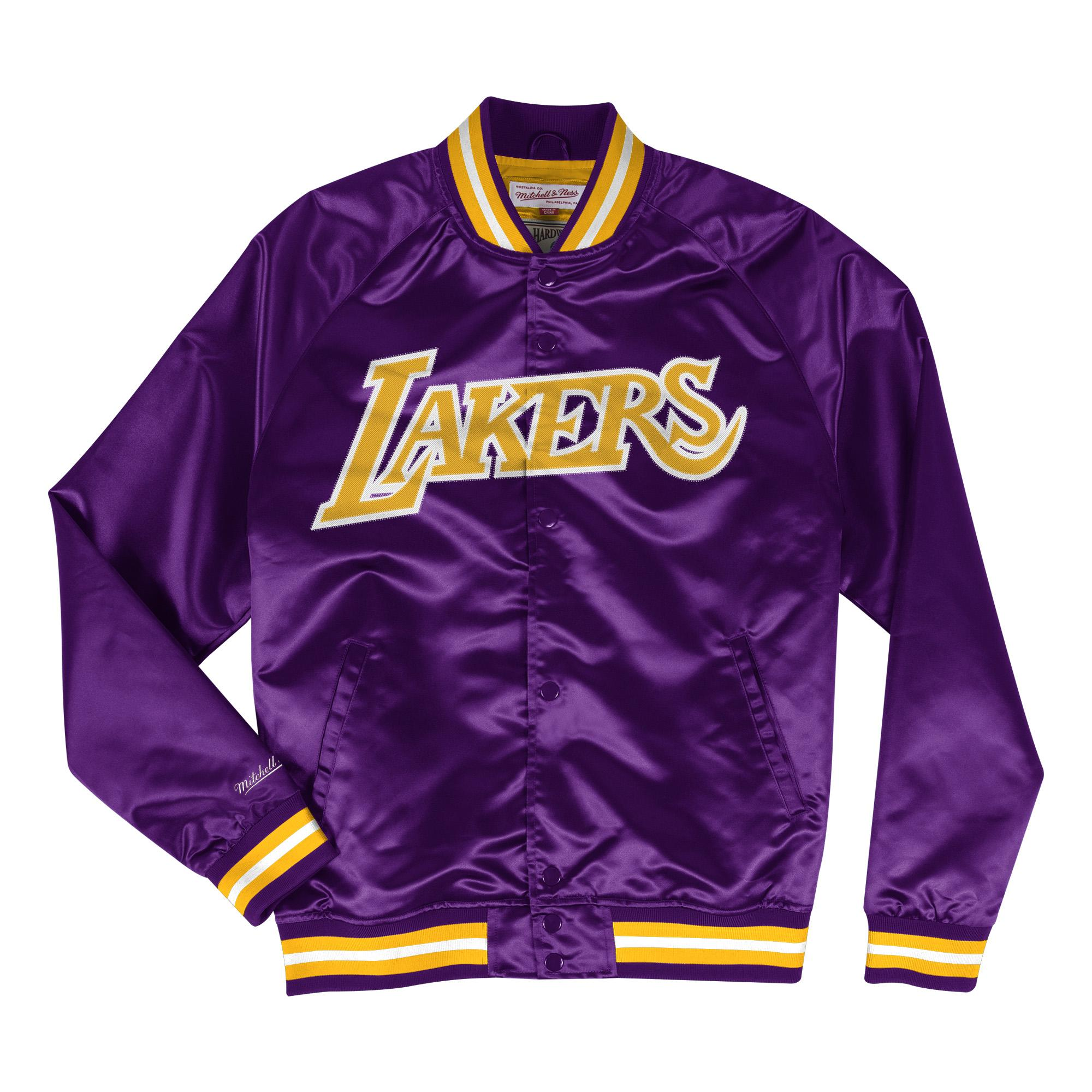 6a855e439 NBA Lightweight Satin Jacket LA Lakers