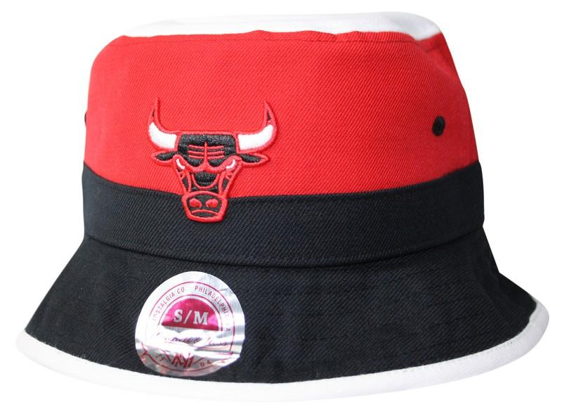 984a32c03fa ... authentic mitchell ness chicago bulls red colour block bucket hat 63835  27431