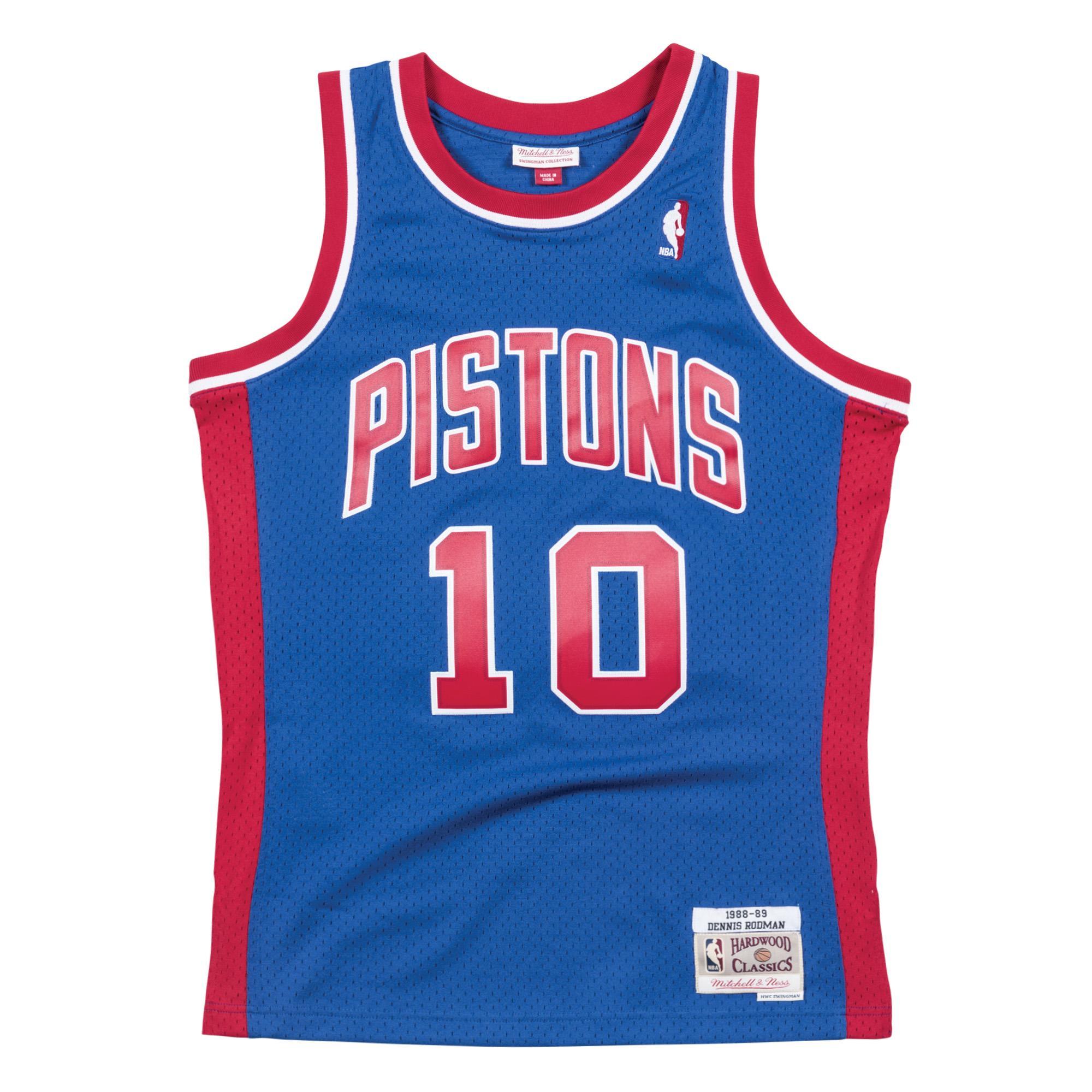3502735e3bc Dennis Rodman 1988-89 Swingman Jersey Detroit Pistons
