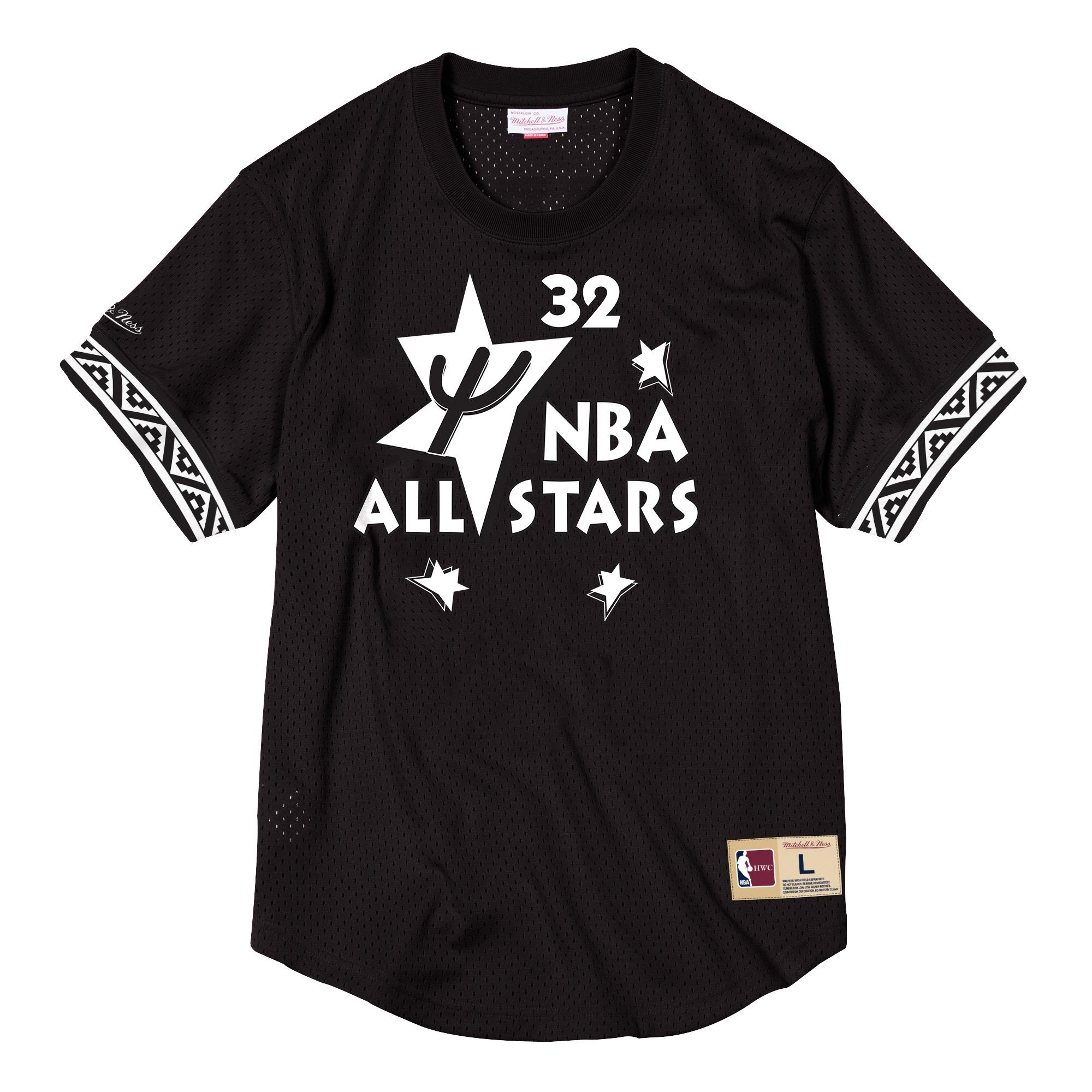 75ff34f2e30f Shaquille O Neal Name   Number Mesh Crewneck NBA All-Star