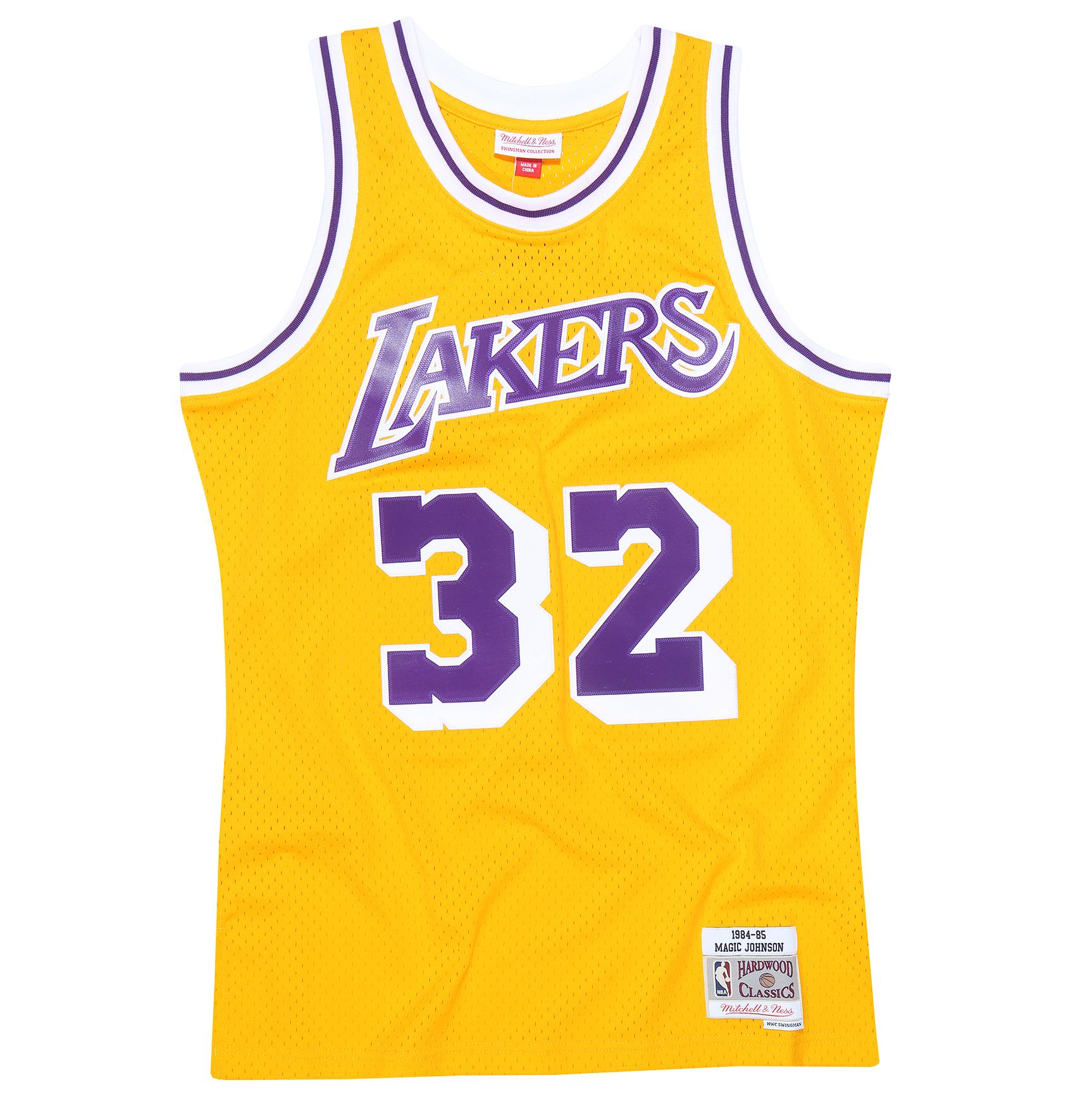 c069149ee Mitchell & Ness | Magic Johnson 1984-85 Los Angeles Lakers Swingman Jersey