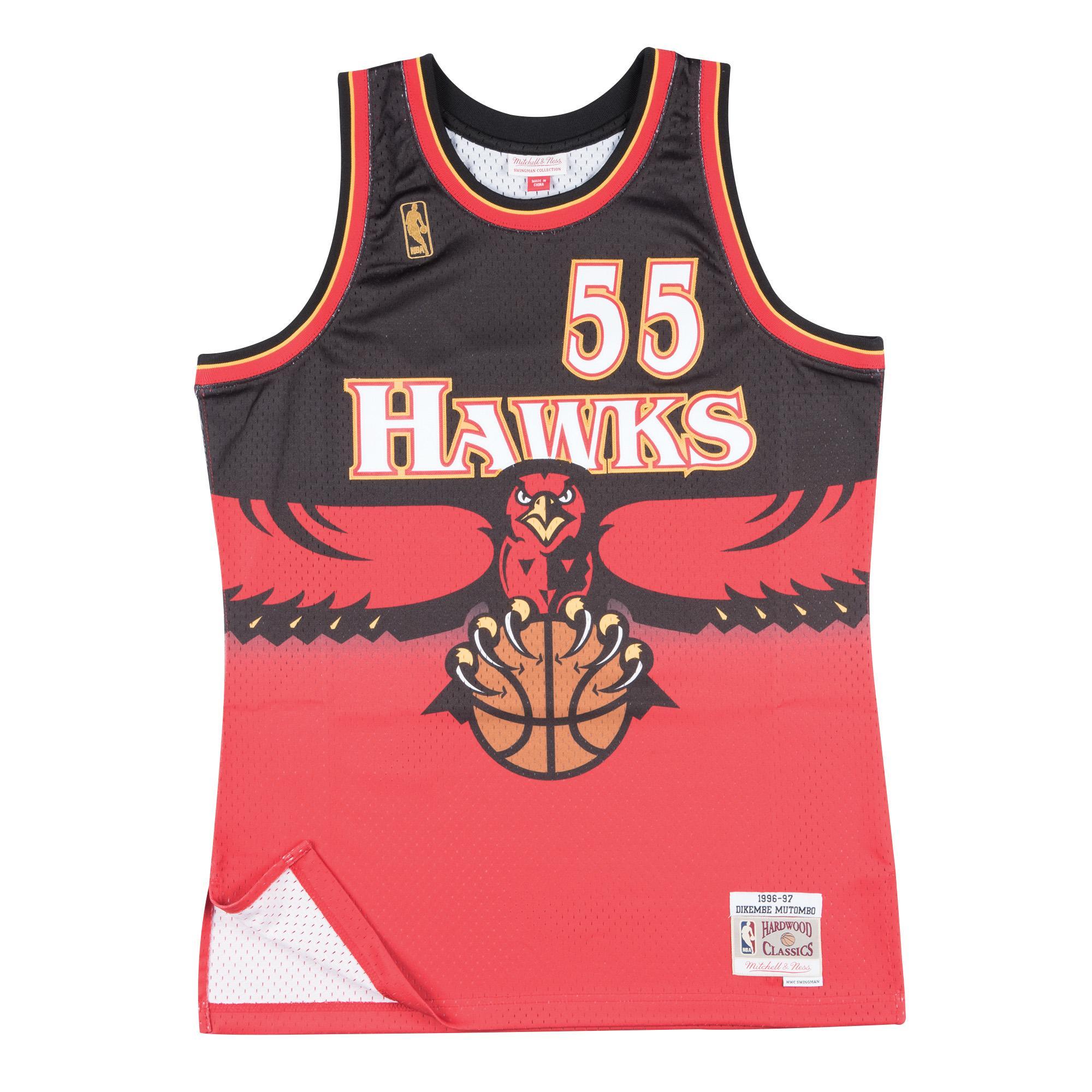 ac487c74aeb5 Dikembe Mutombo 1996-97 Road Swingman Jersey Atlanta Hawks