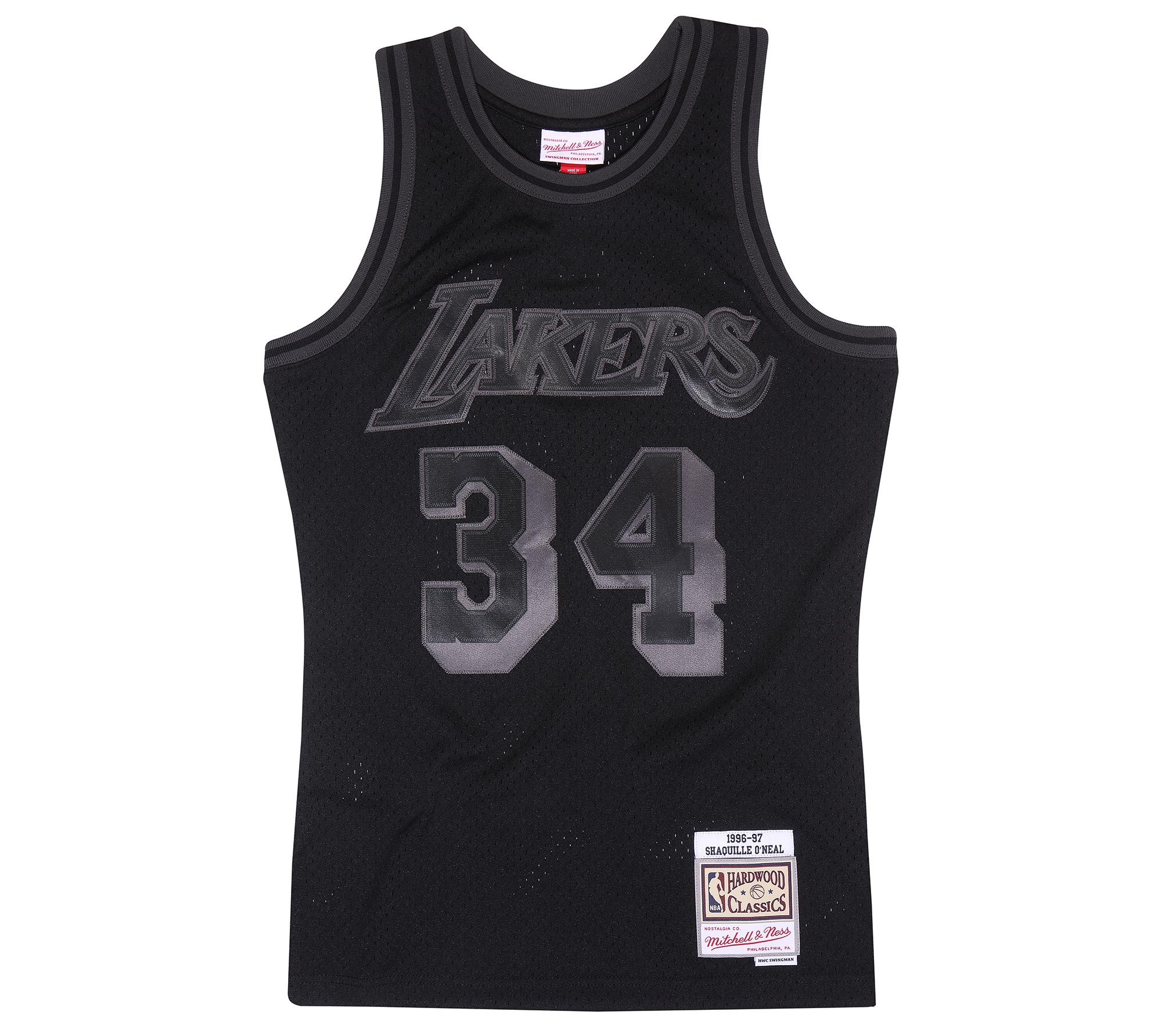 competitive price 17340 d4f05 Mitchell & Ness | LA Lakers Shaquille O'Neal Black to Black ...