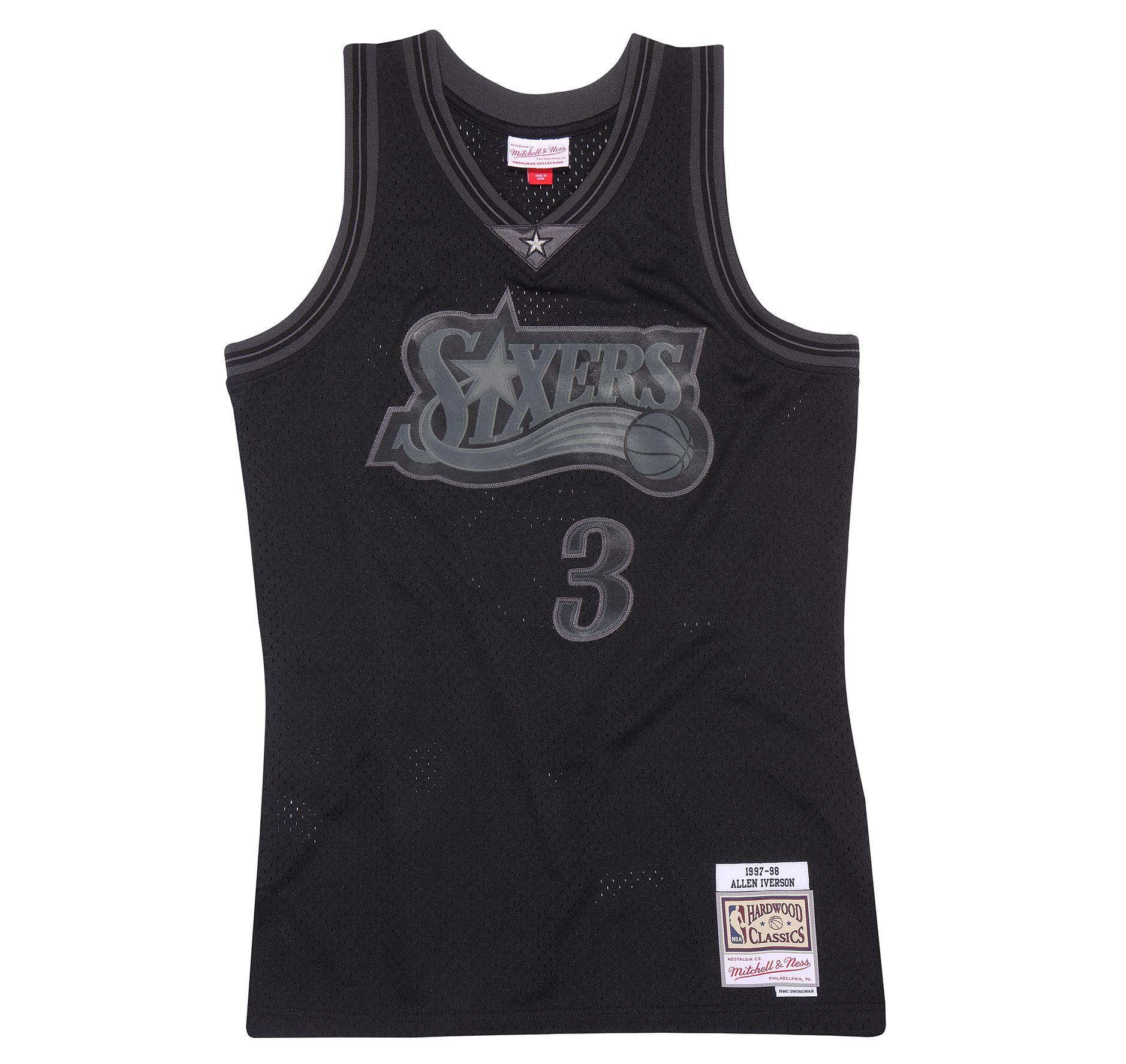 pretty nice 8a488 52153 Mitchell & Ness | Philadelphia 76ers Allen Iverson Black to ...