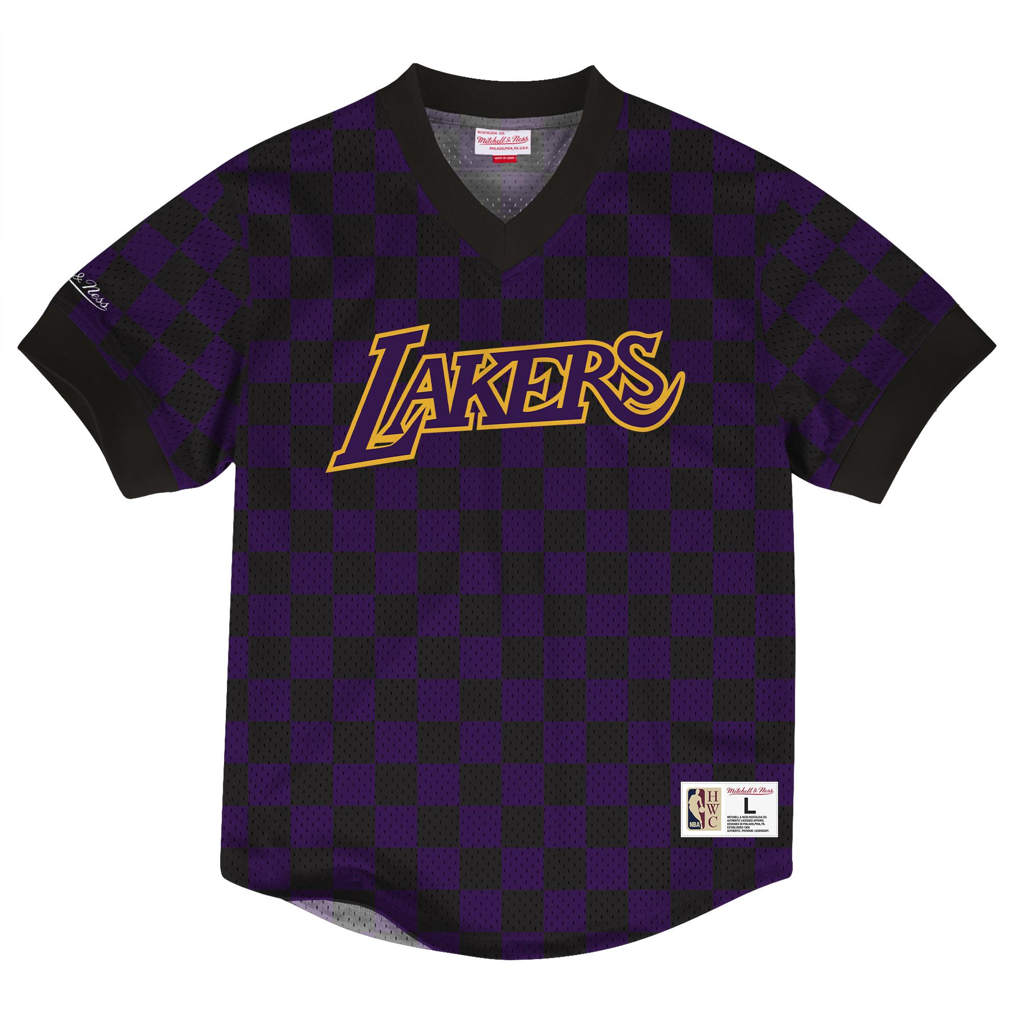 606bb8f31 NBA Wordmark Mesh V-Neck LA Lakers