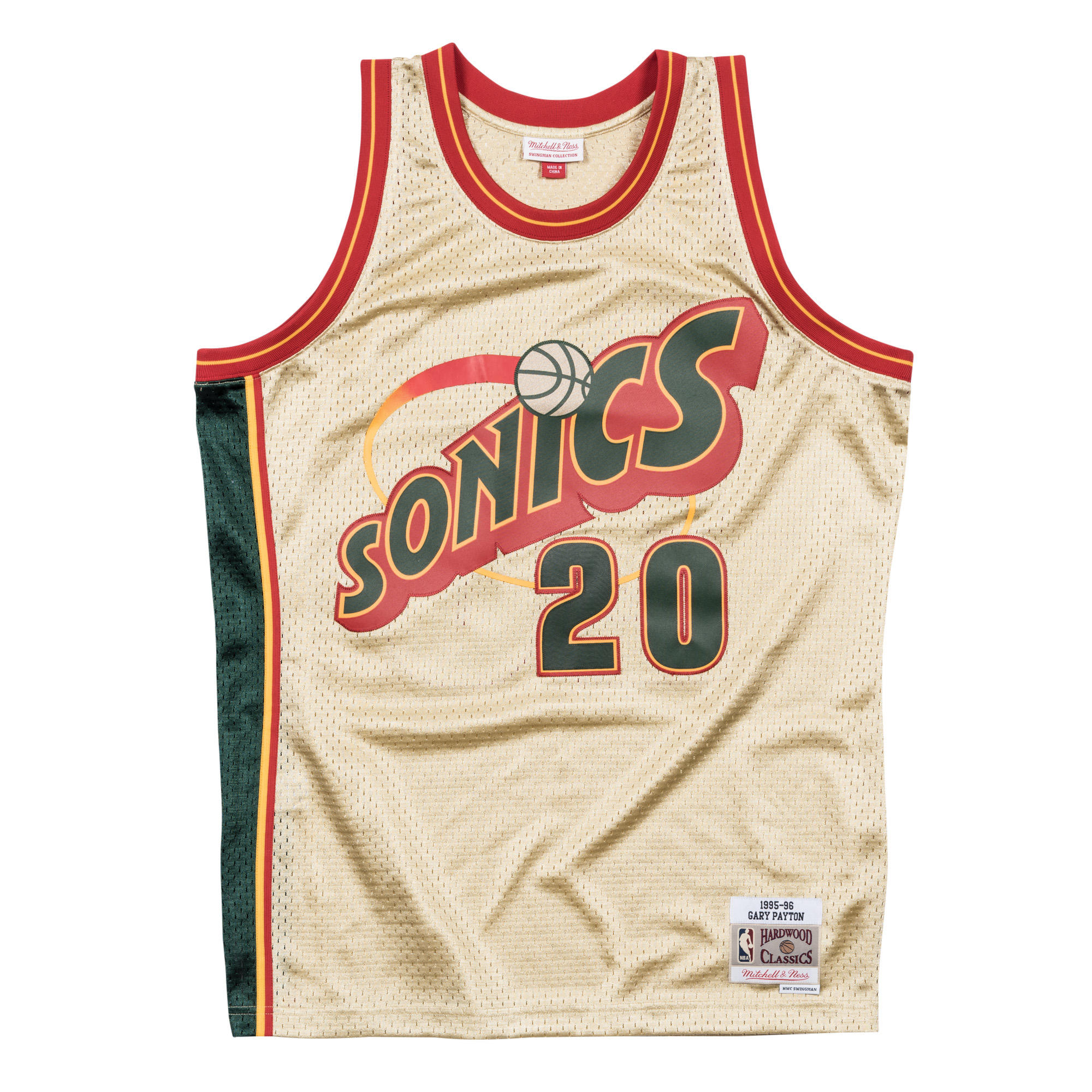 f0310ae08d1e Gary Payton 1995-96 Gold Swingman Jersey Seattle Supersonics