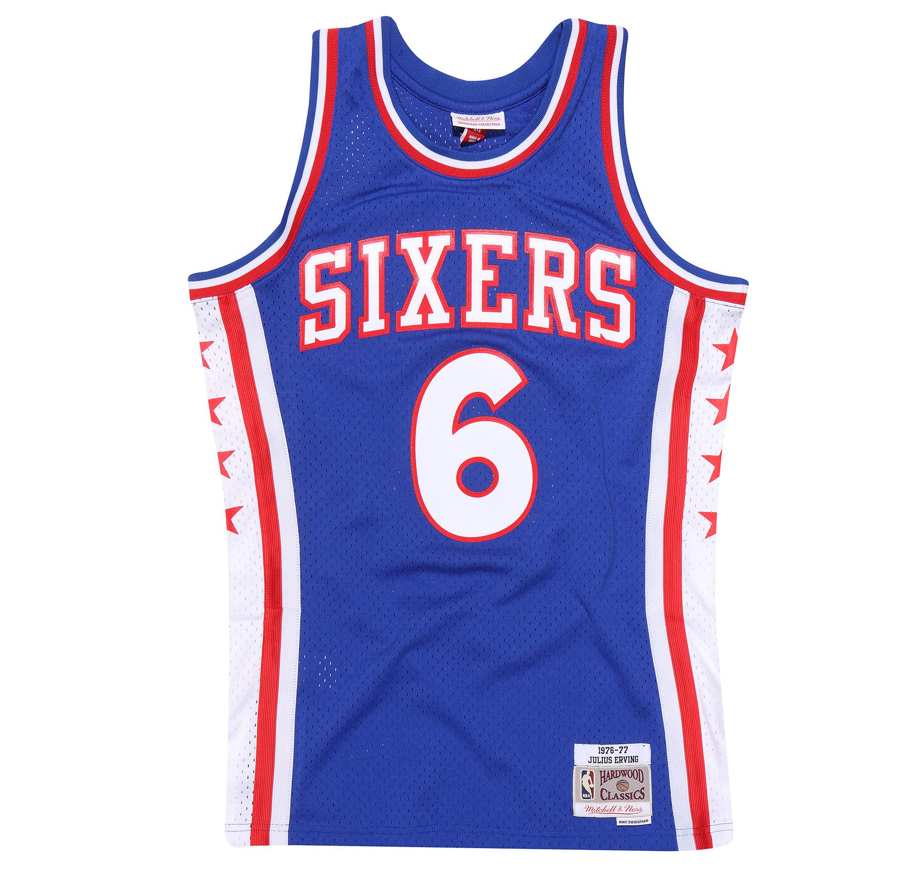 huge discount 61cf5 00b40 Julius Erving 1976-77 Road Swingman Jersey Philadelphia 76ers