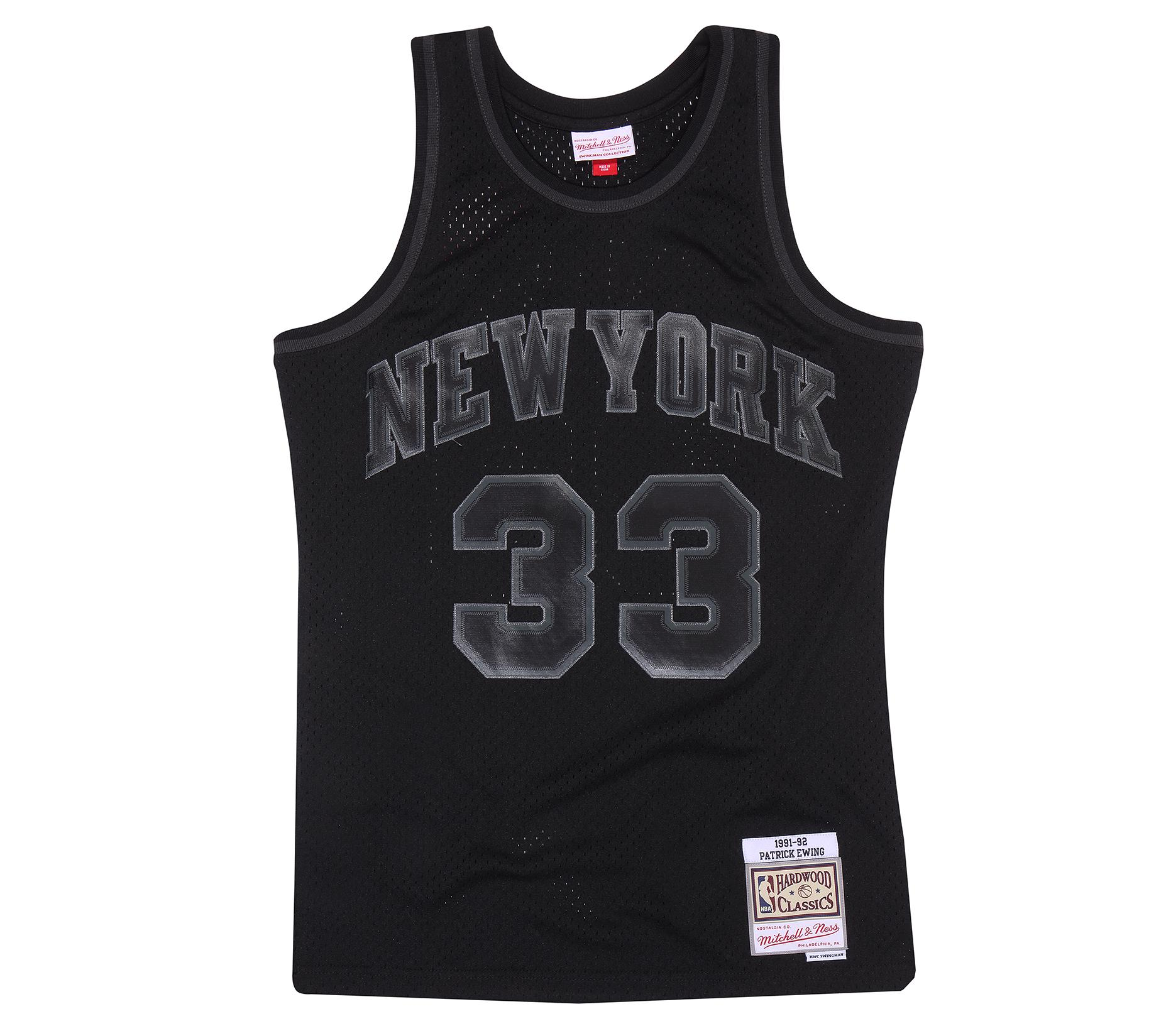 online store 546d3 9d98b Mitchell & Ness | New York Knicks Patrick Ewing Black to ...