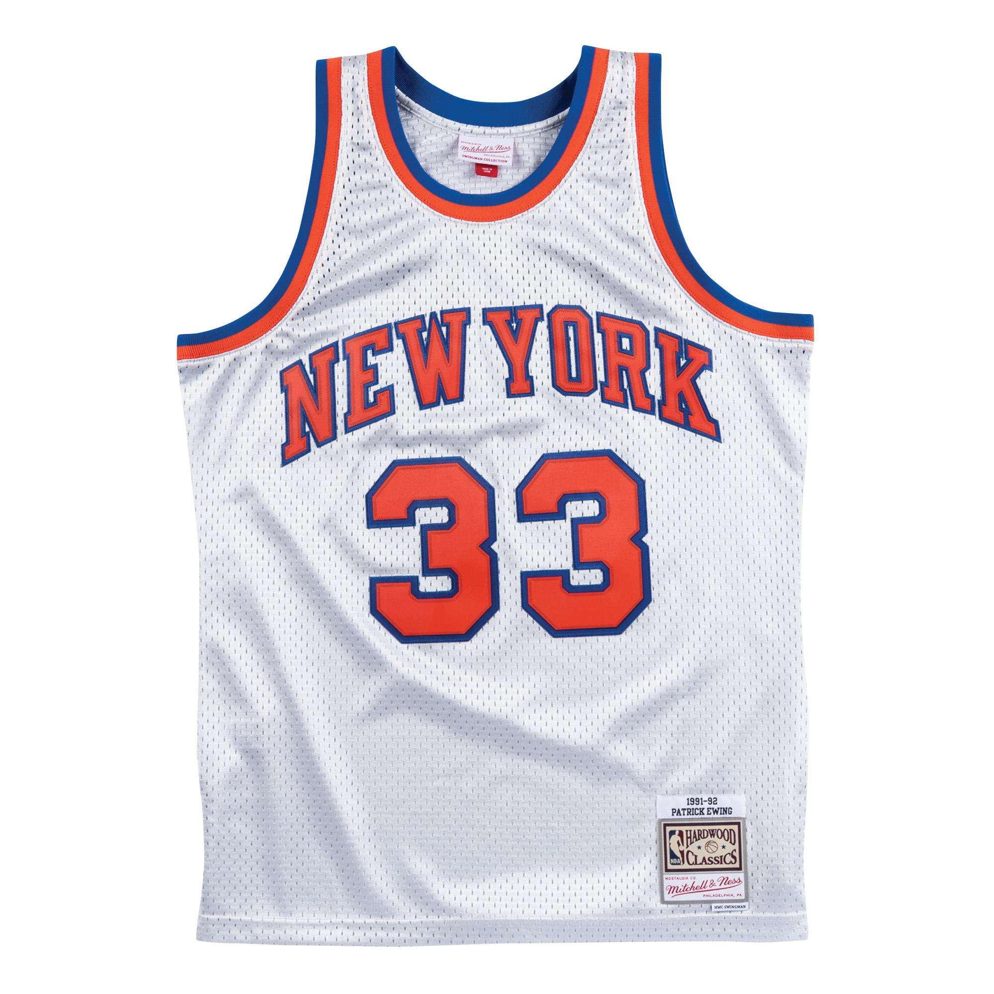 7610c05be20b Platinum Swingman Jersey - Patrick Ewing New York Knicks