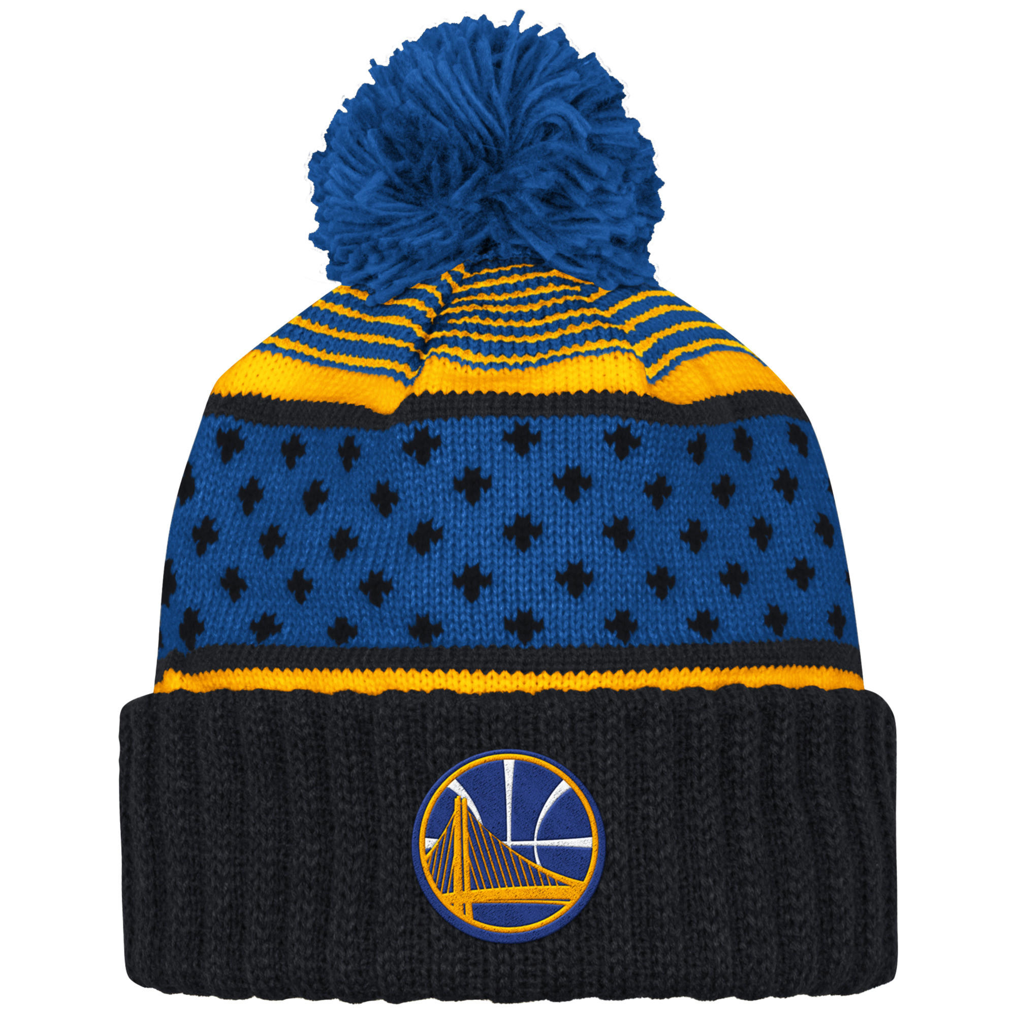 a46b1e9e875 The Highlands Cuffed Pom Beanie Golden State Warriors
