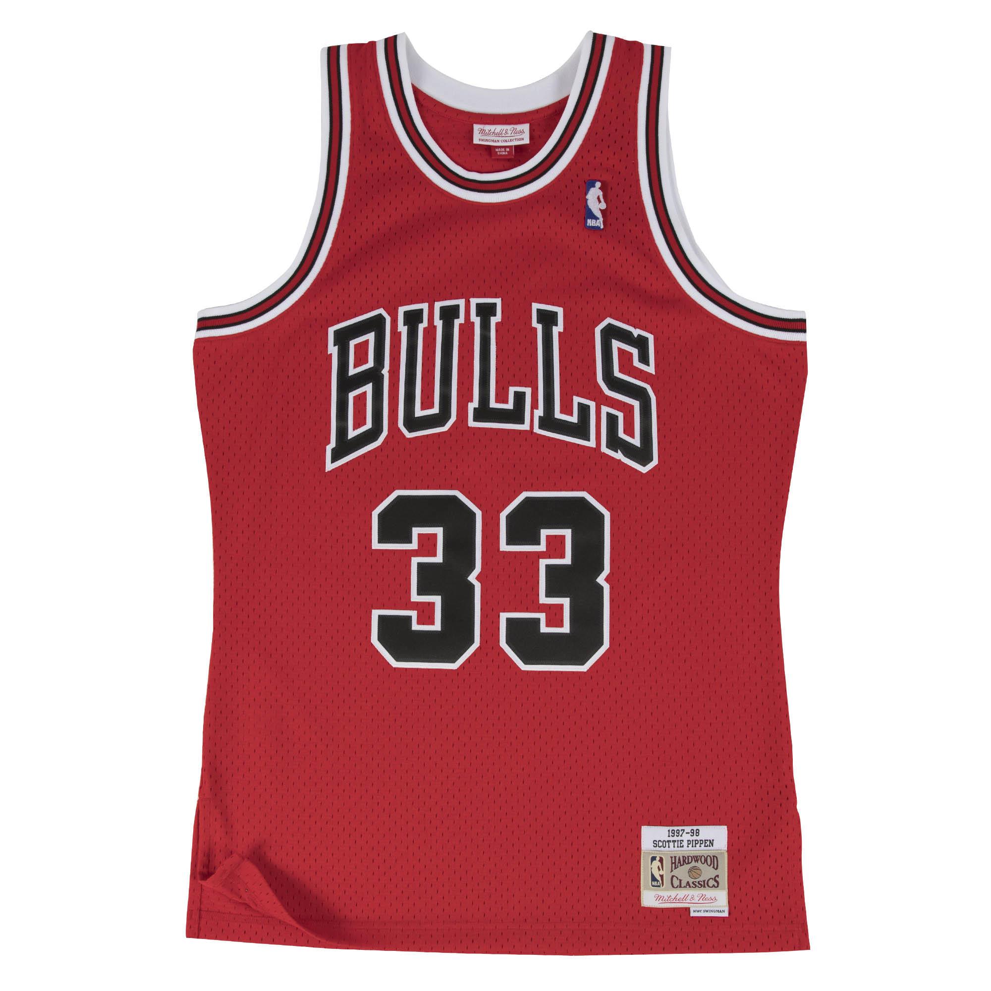 c5a35fce9 Scottie Pippen 1997-98 Swingman Jersey Chicago Bulls