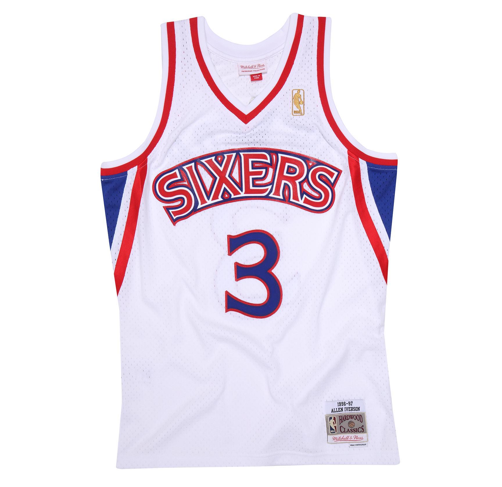 522964df4 Allen Iverson 1996-97 Home Swingman Jersey Philadelphia 76ers