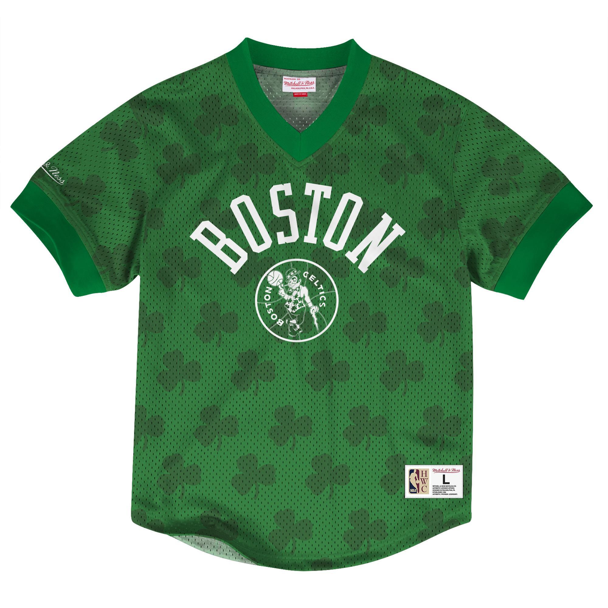 e6846734823 NBA Wordmark Mesh V-Neck Boston Celtics