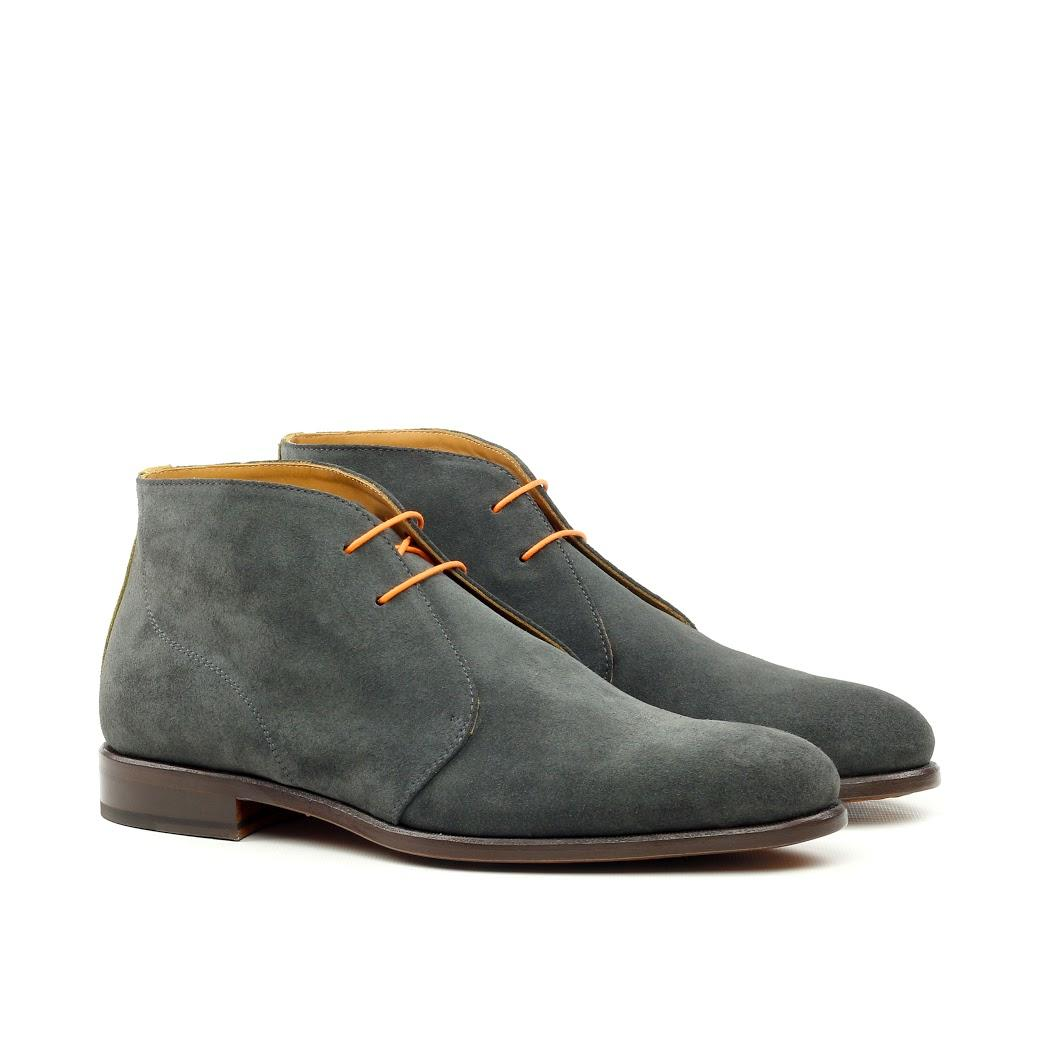 manor of grey suede chukka boot