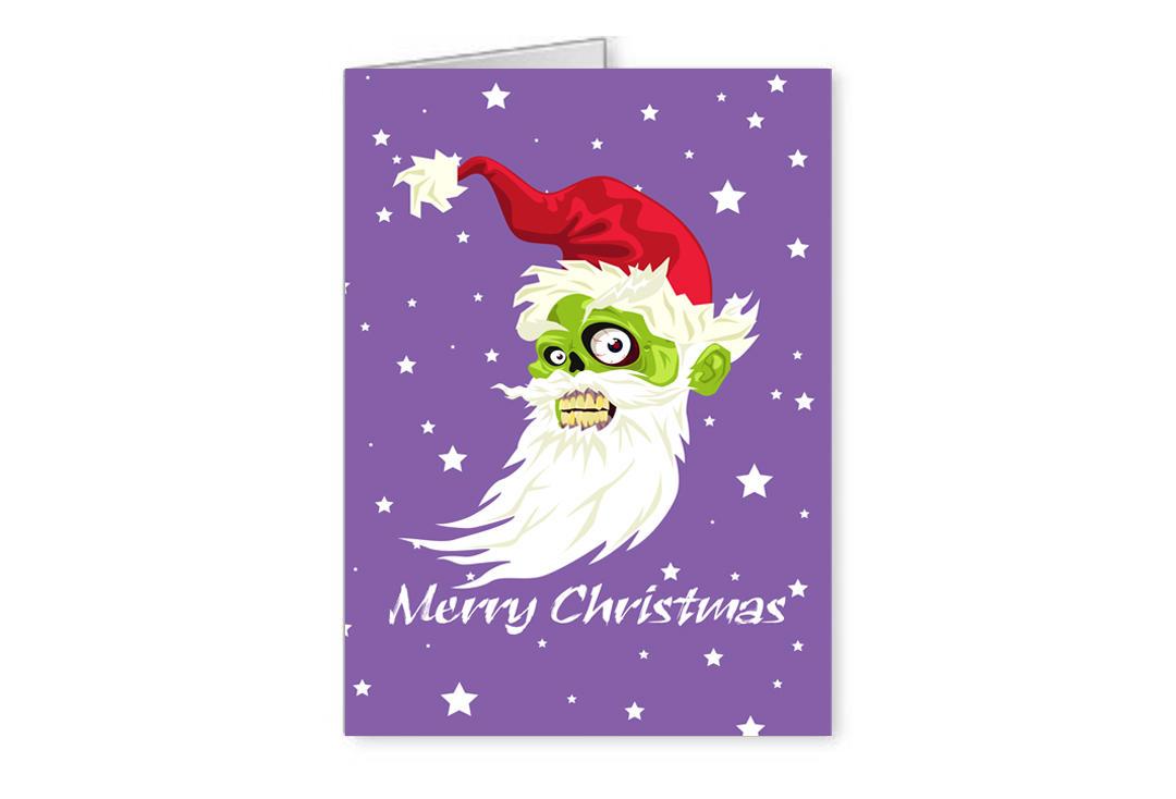 Christmas Zombie Santa.Zombie Santa Christmas Greetings Card