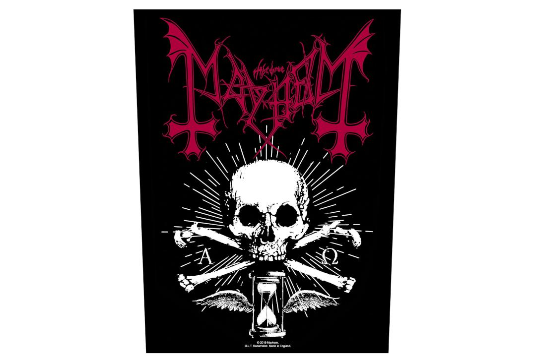 Sew On Patch Offical Band Merch. Coat Of Arms Mayhem