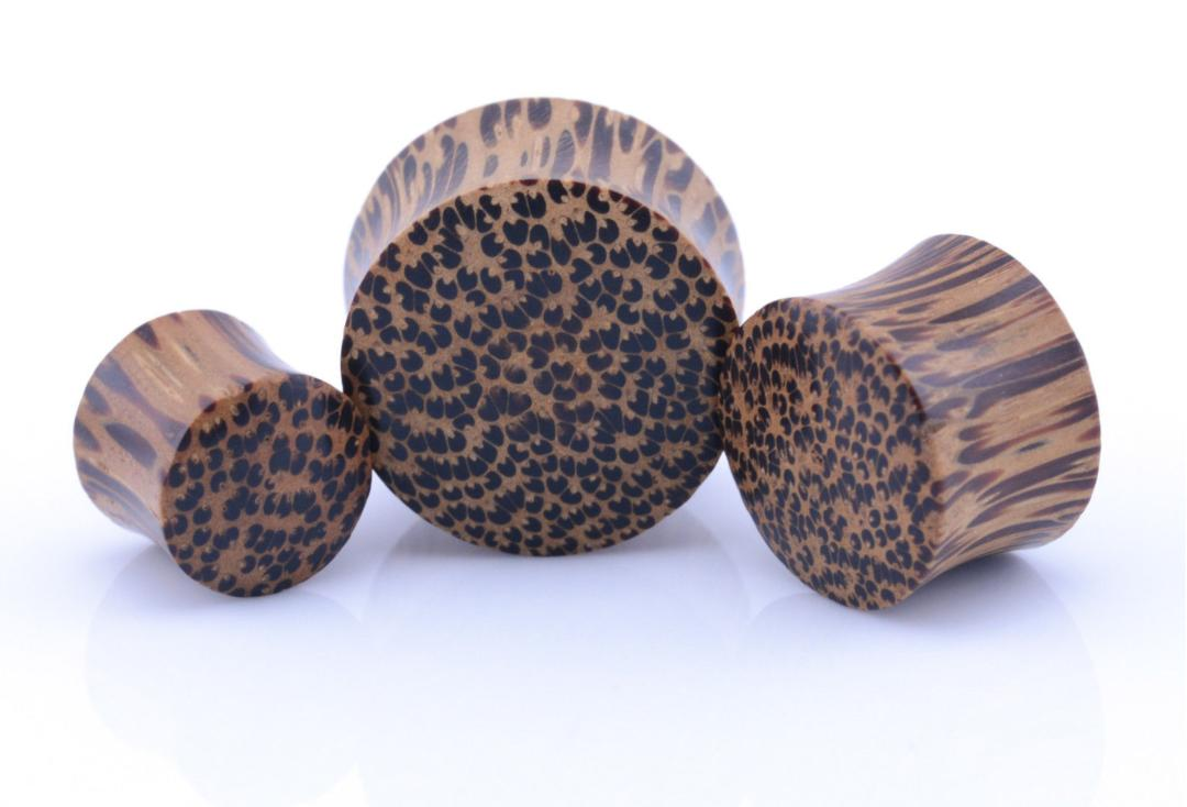 Coconut Wooden Flared Plug 3mm to 51mm
