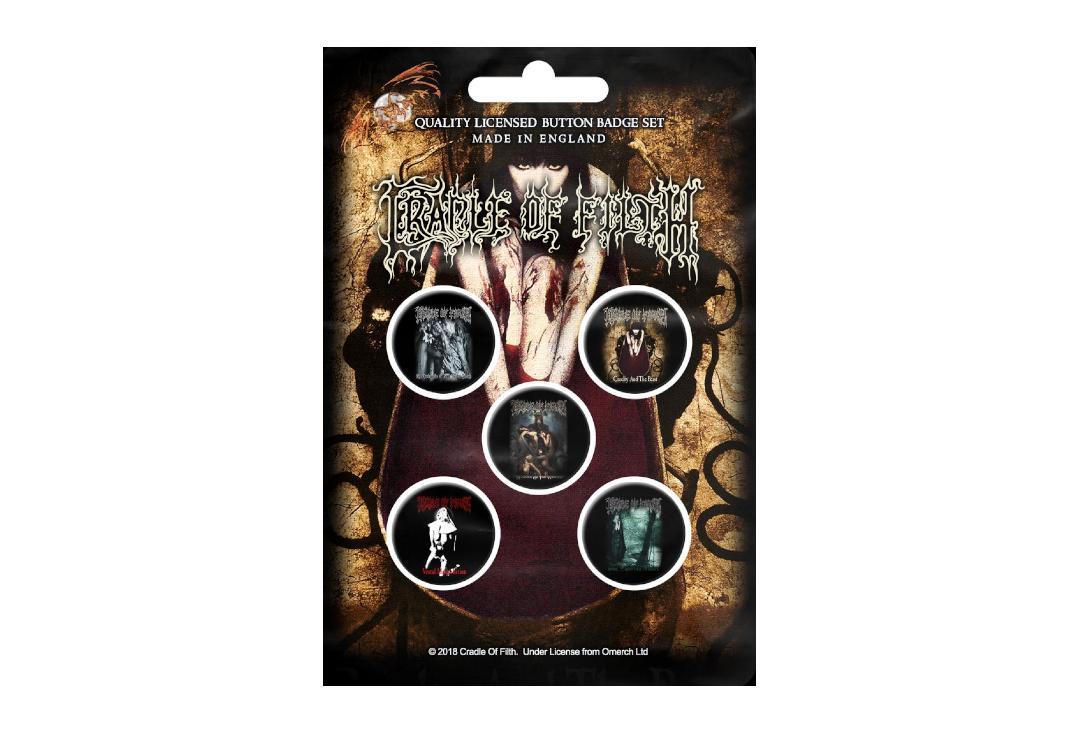 Cradle of Filth Button Set Albums