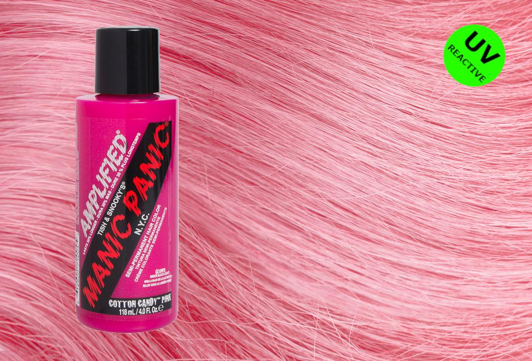 Cotton Candy Pink Manic Panic Amplified Cream Hair Colour