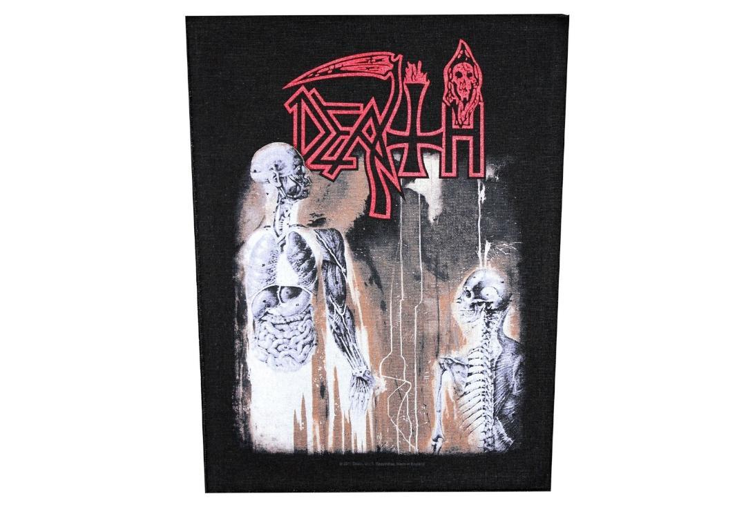 Death Mens Human Back Patch Black