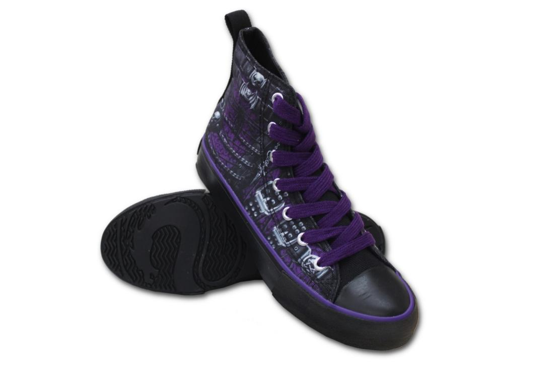 Waisted Corset Women's Spiral Lace Up High Top Sneakers