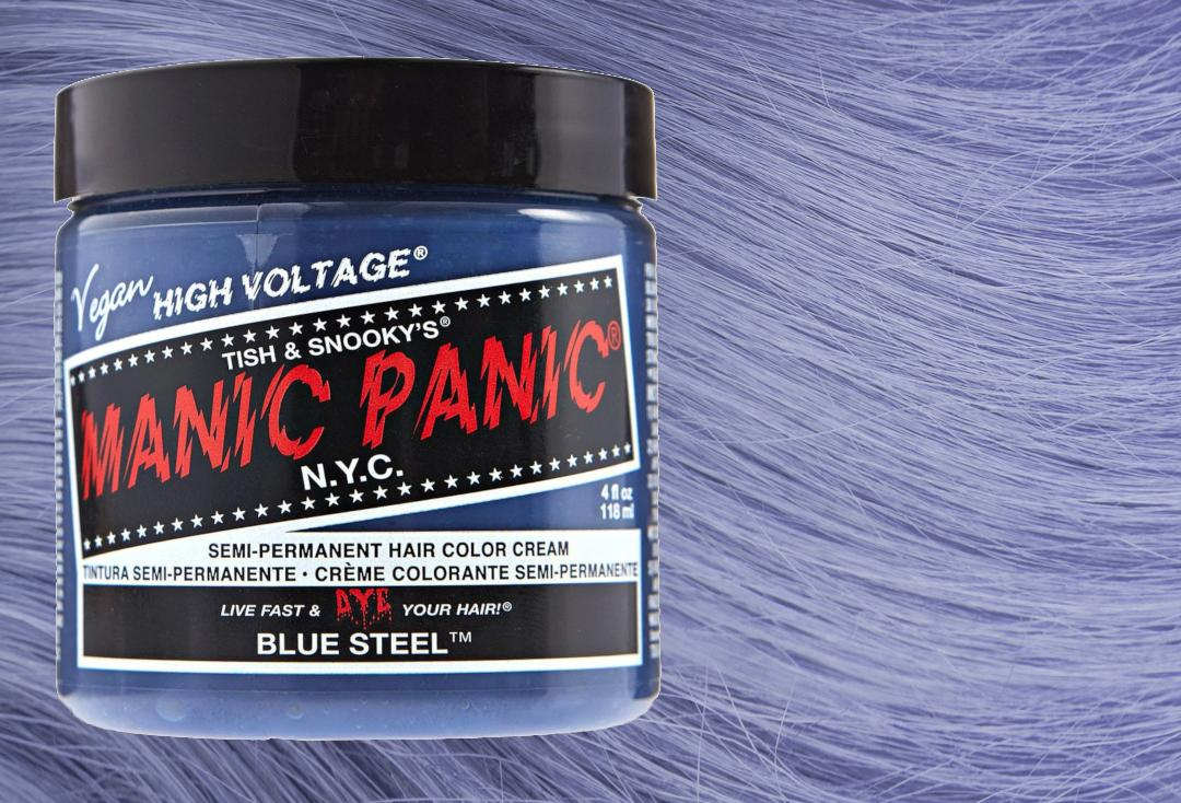 manic panic blue steel before and after