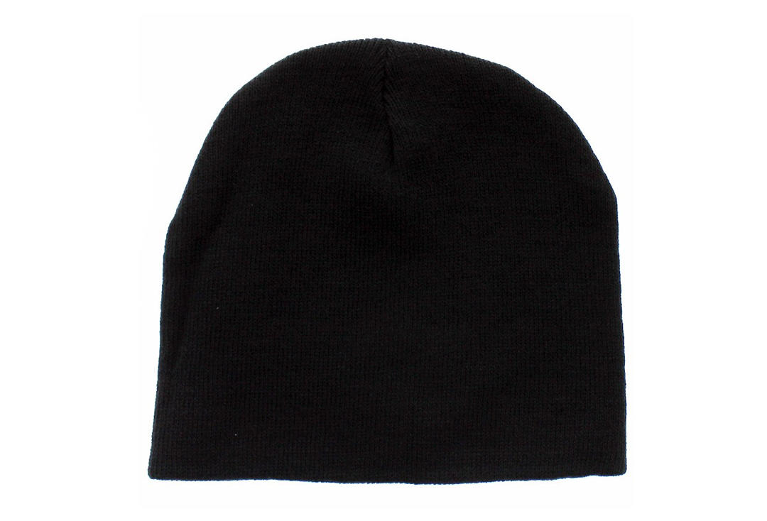 870403ec593 Plain Black Beanie Hat