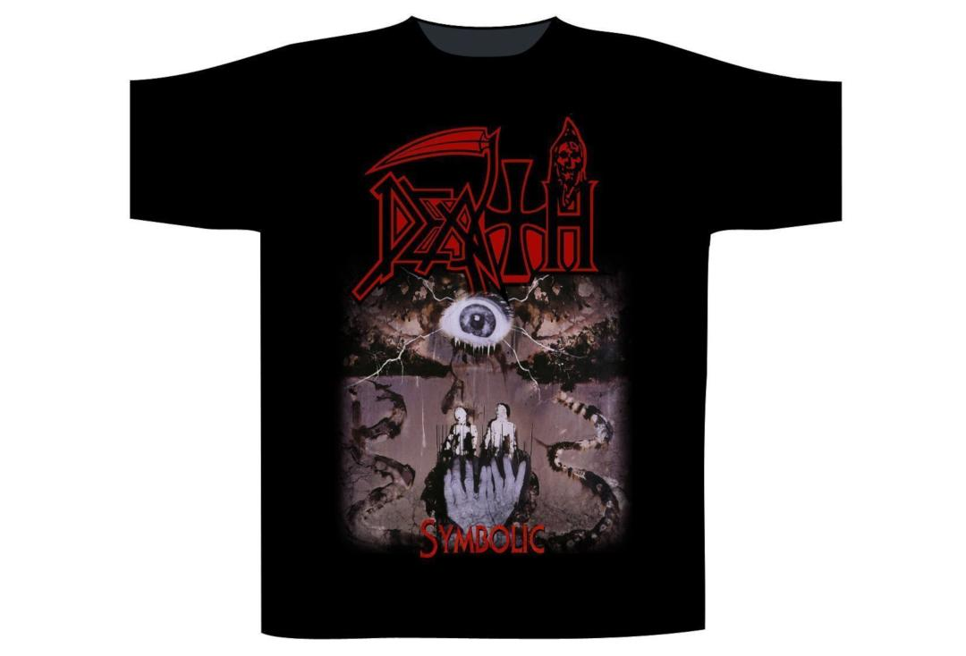 ec7f376b32 Official Band Merch | Death - Symbolic Men's Short Sleeve T-Shirt - Front  View