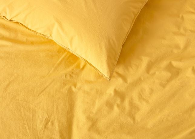 Fitted Sheet Plain Dyed Polycotton Mustard Colour in All Sizes Non Iron Percale