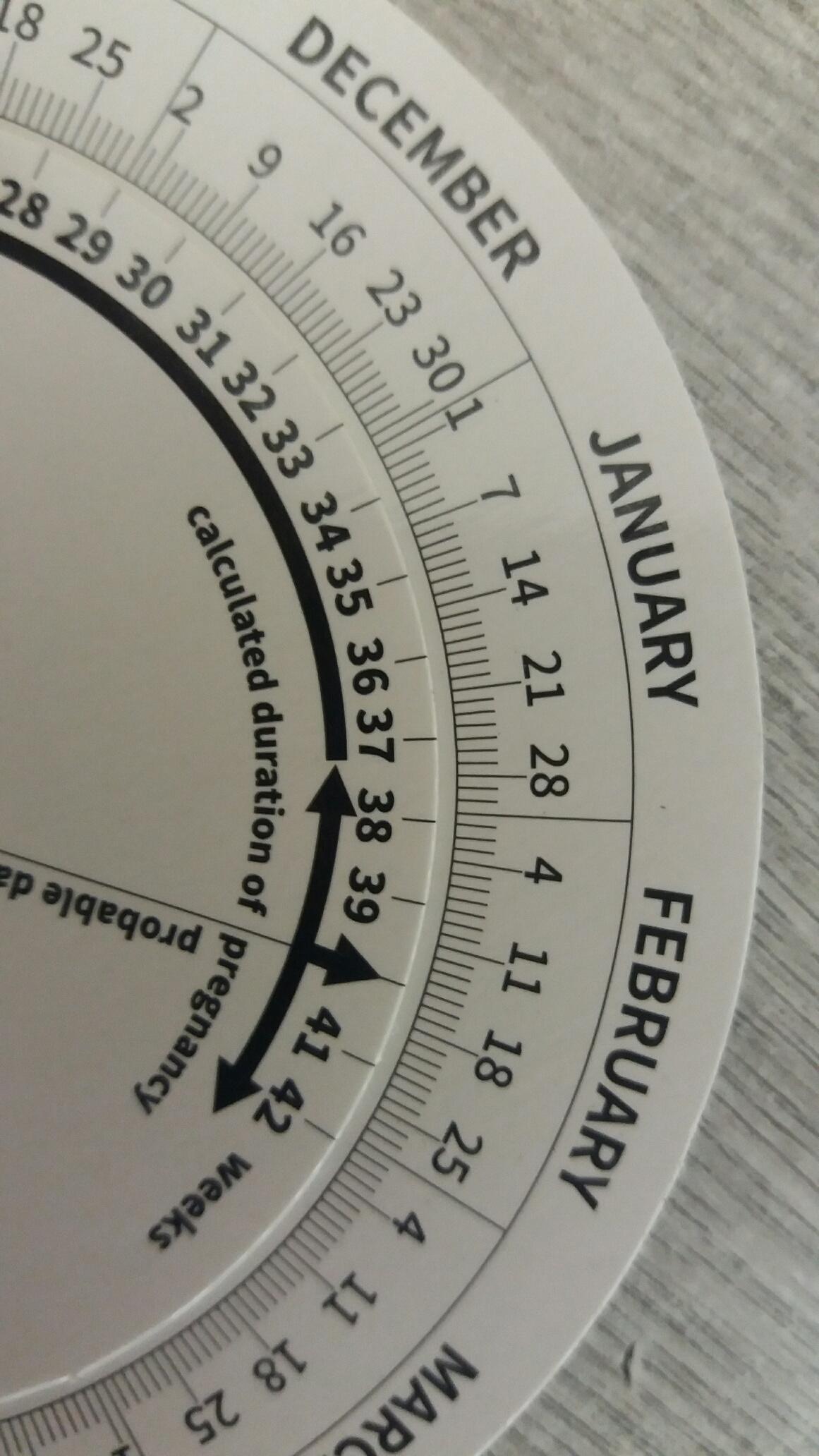 Obstetrics Pregnancy Calculator Wheel - Two Sizes