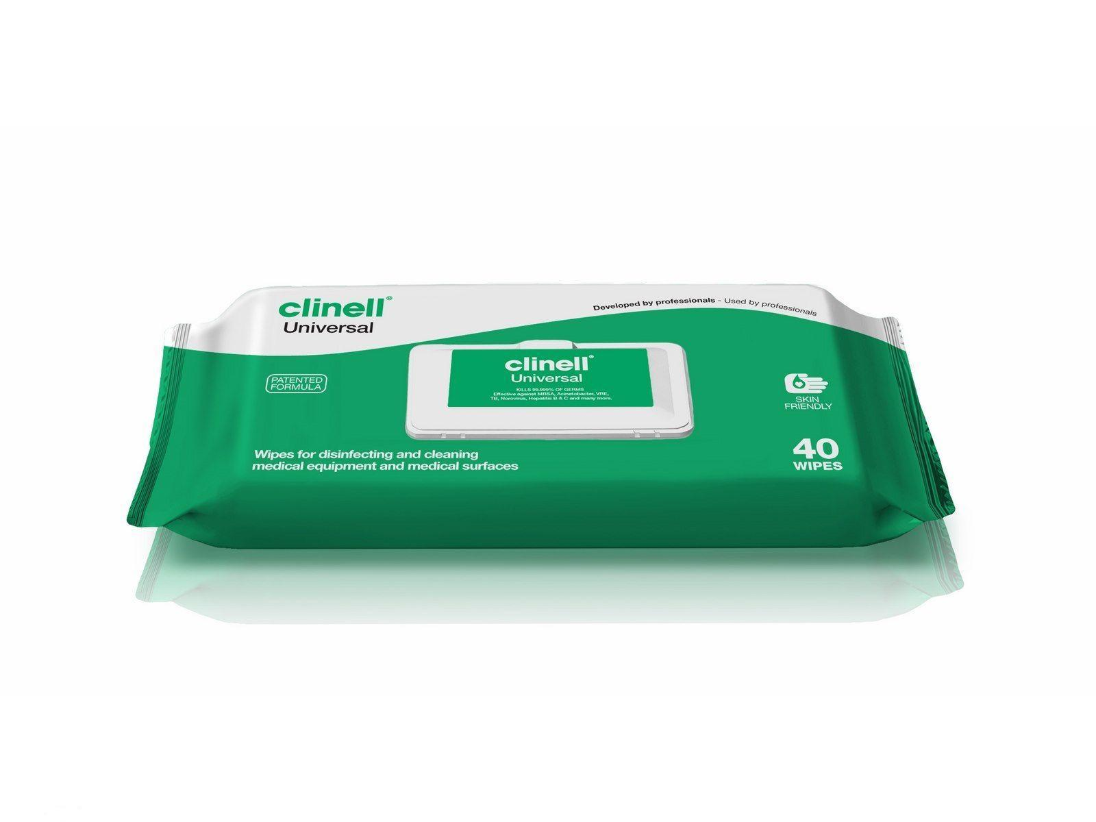 Pk 40 Clinell Universal Wipes