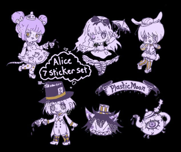 Plasticmoon mad tea party sticker set