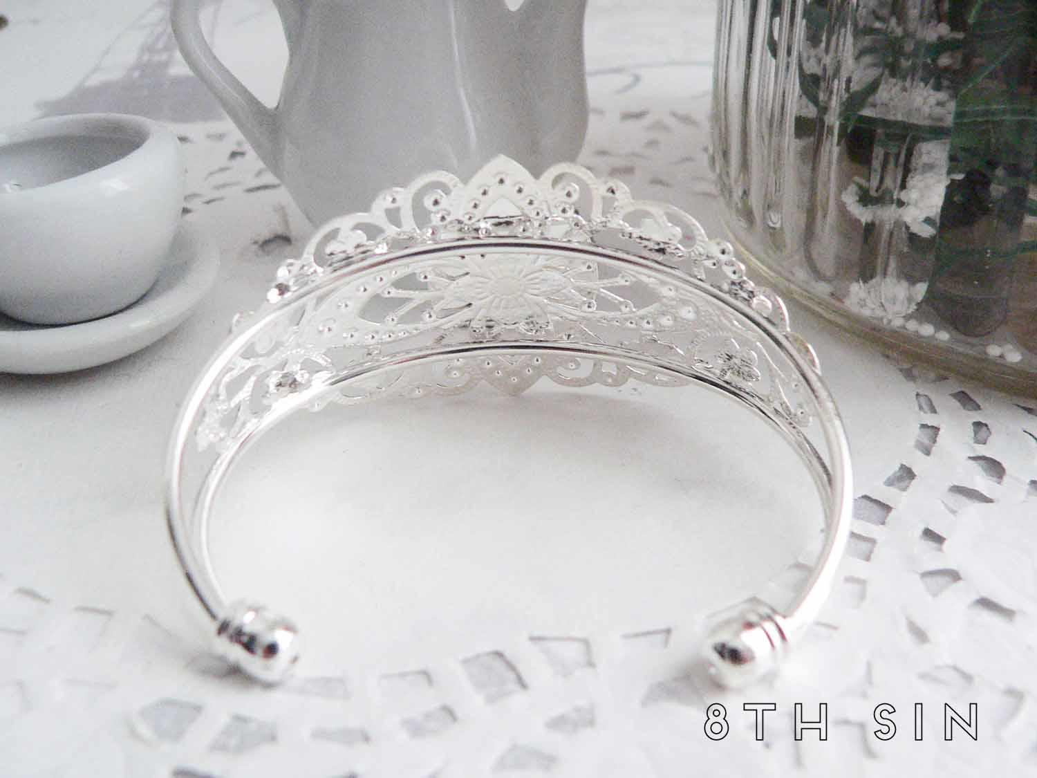 antique silver woodpecker bracelet