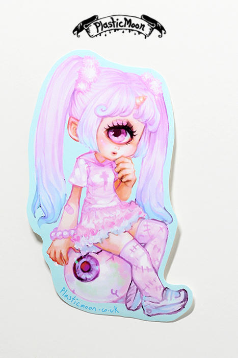 Plasticmoon cyclops girl sticker