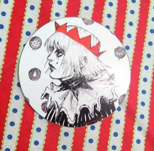 Plasticmoon pierrot sticker