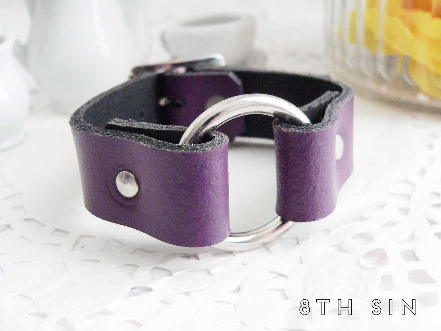 purple o ring wristband