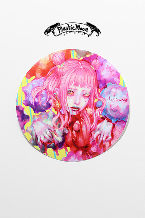 plasticmoon harajuku girl sticker