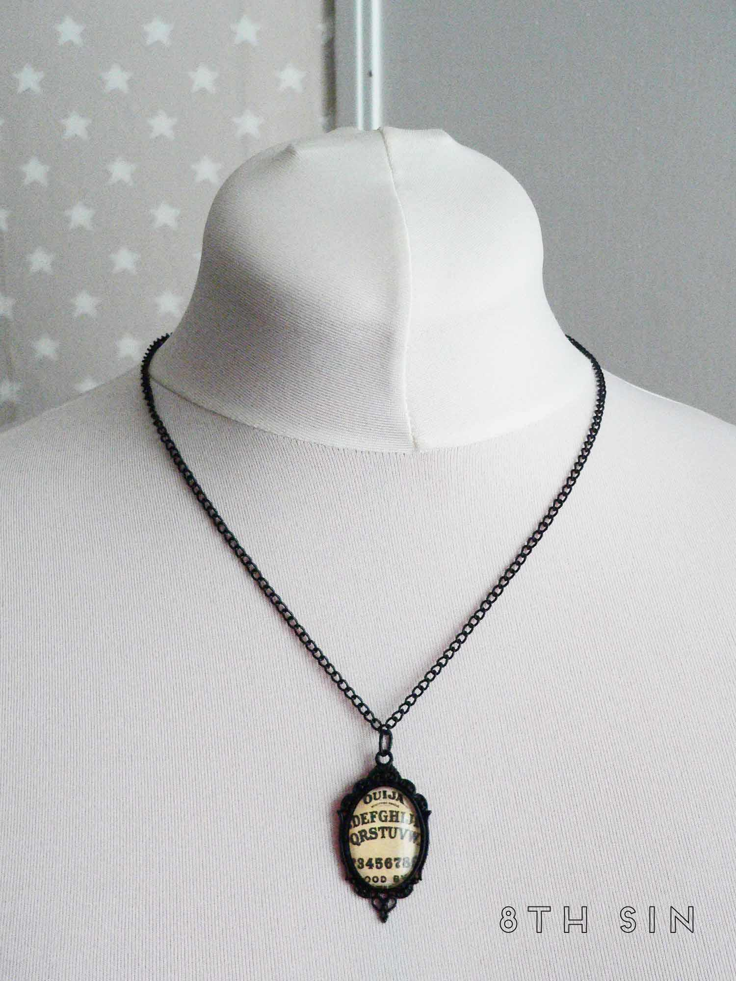 black ouija board necklace