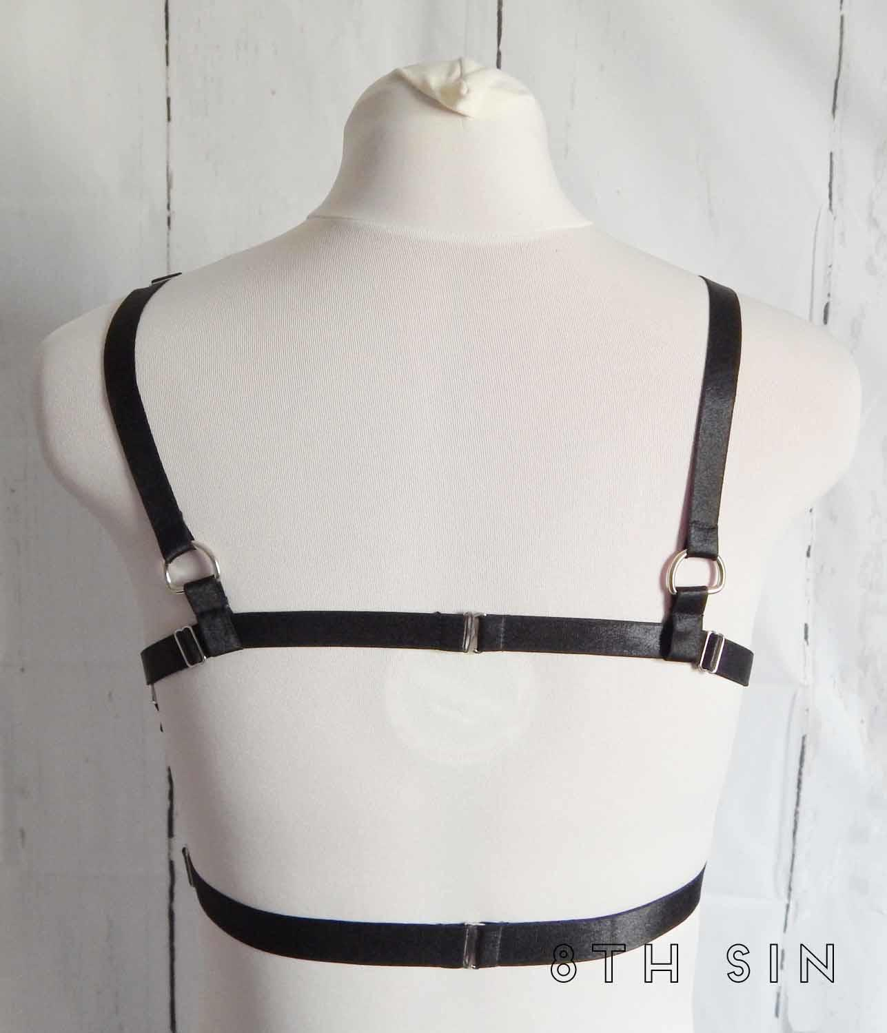 black elastic body harness