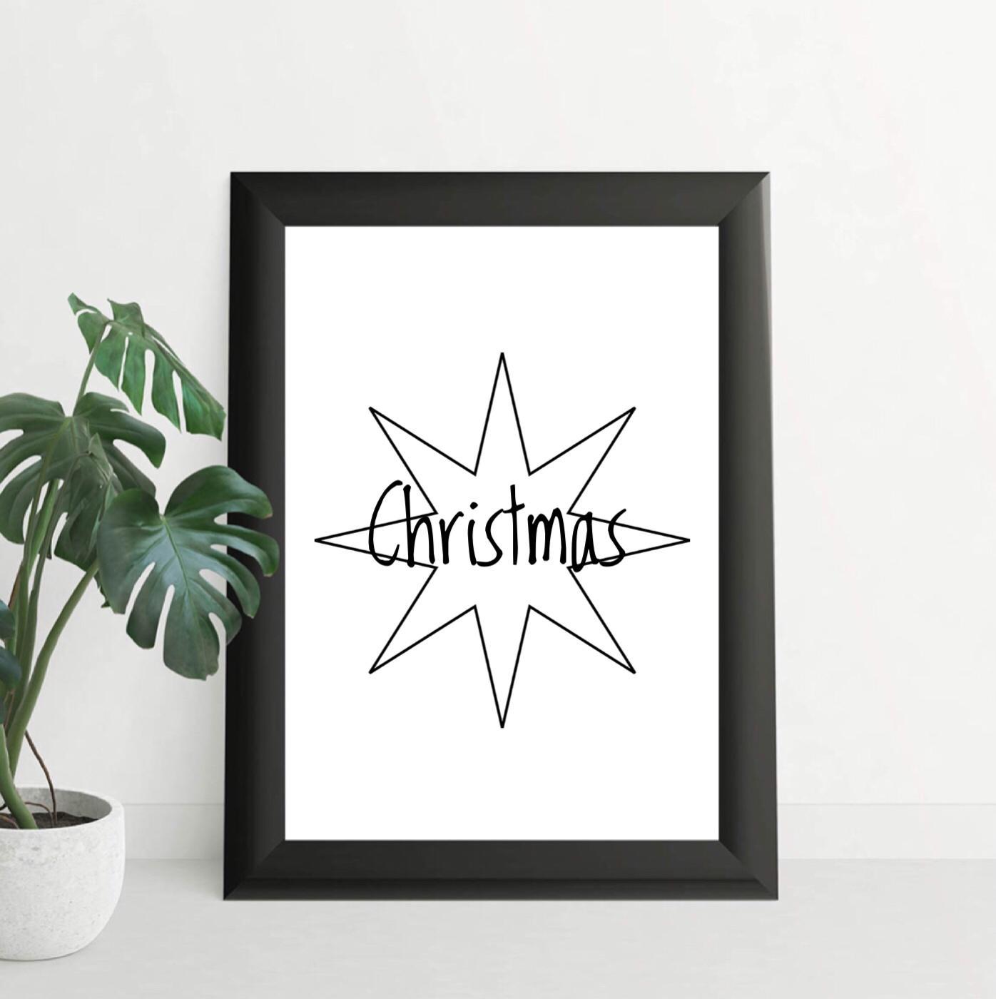 image regarding Christmas Star Printable referred to as Xmas Star Printable