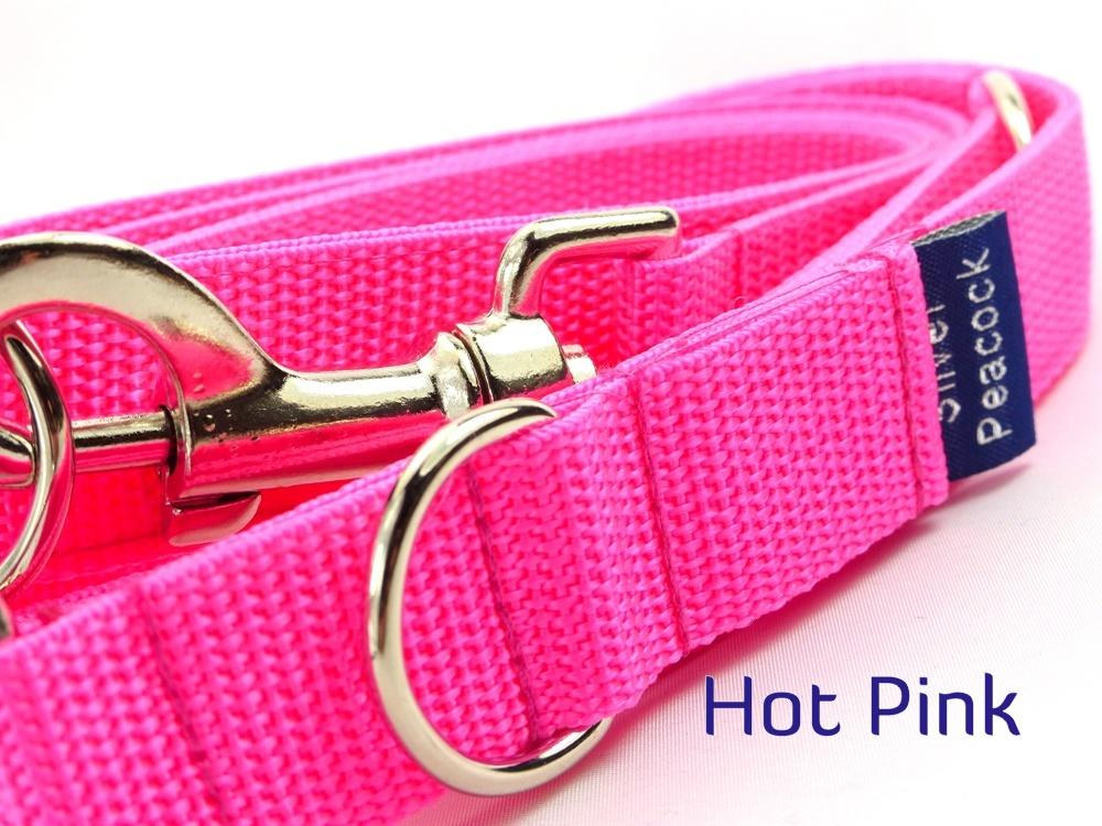 Hot pink webbing multiway lead