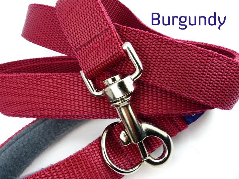 Burgundy webbing long lead