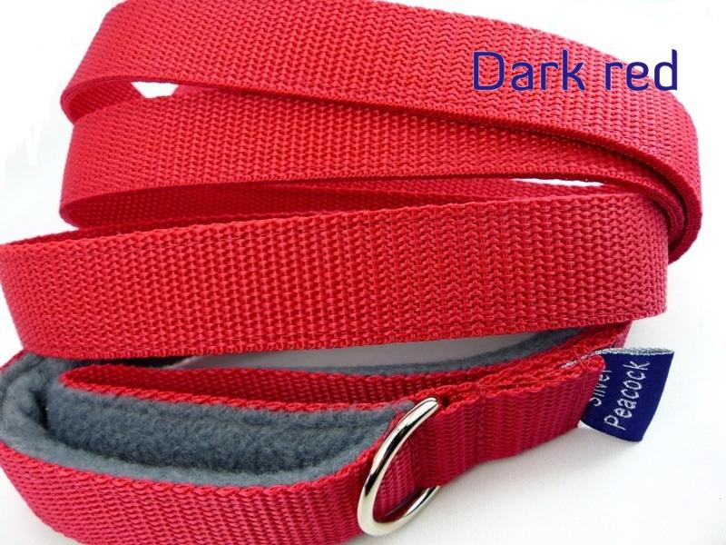 Dark red webbing long lead