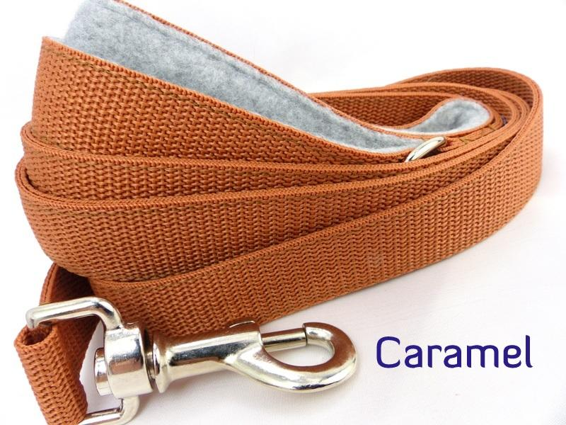 Caramel webbing long lead